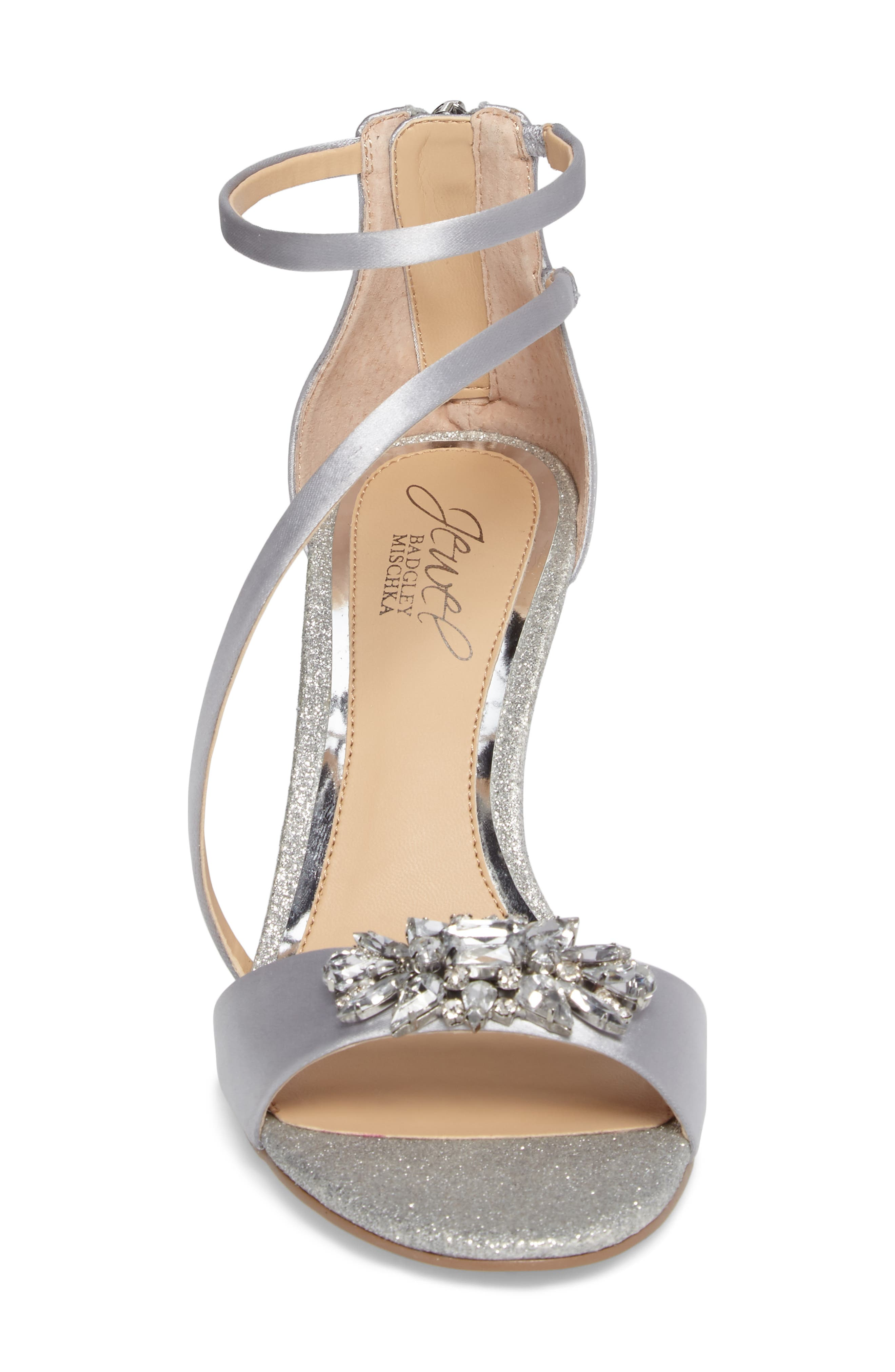 Alternate Image 4  - Jewel Badgley Mischka Leighton Embellished Strappy Sandal (Women)