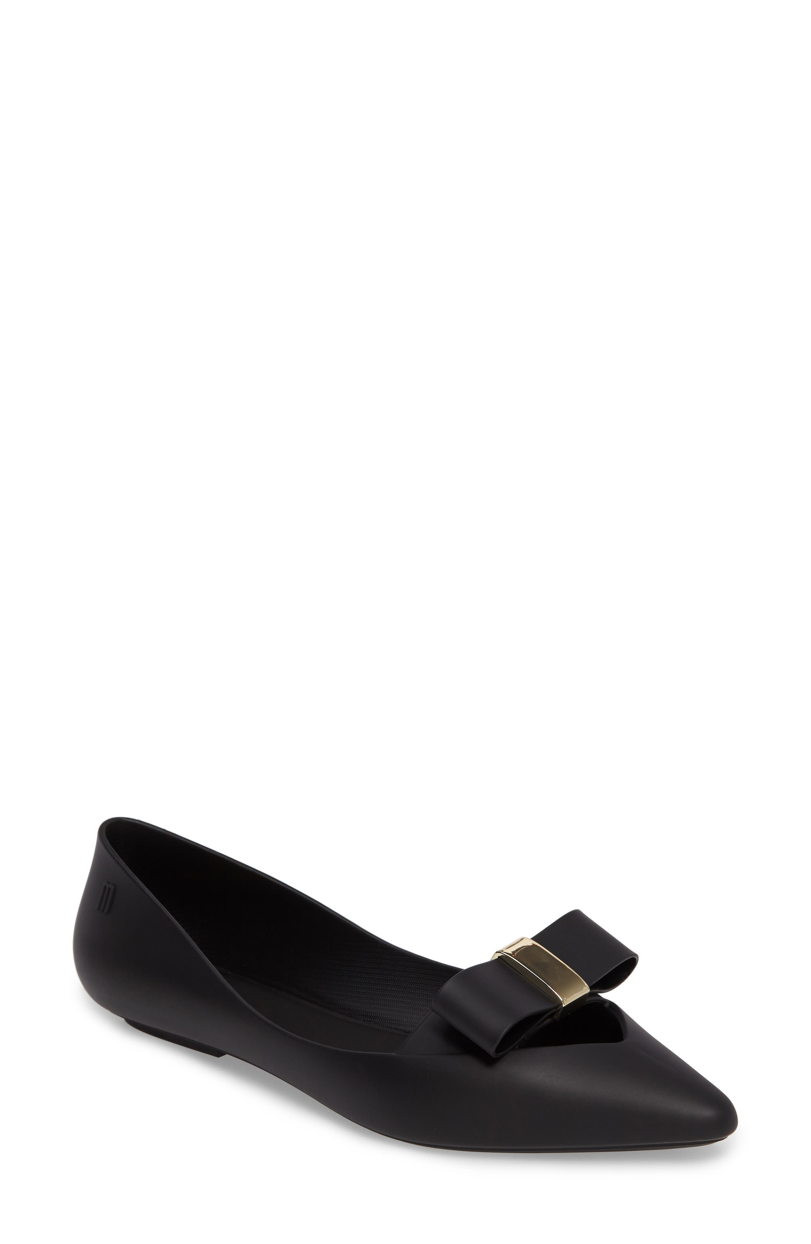 Melissa Maisie II Bow Pointy Toe Flat (Women)
