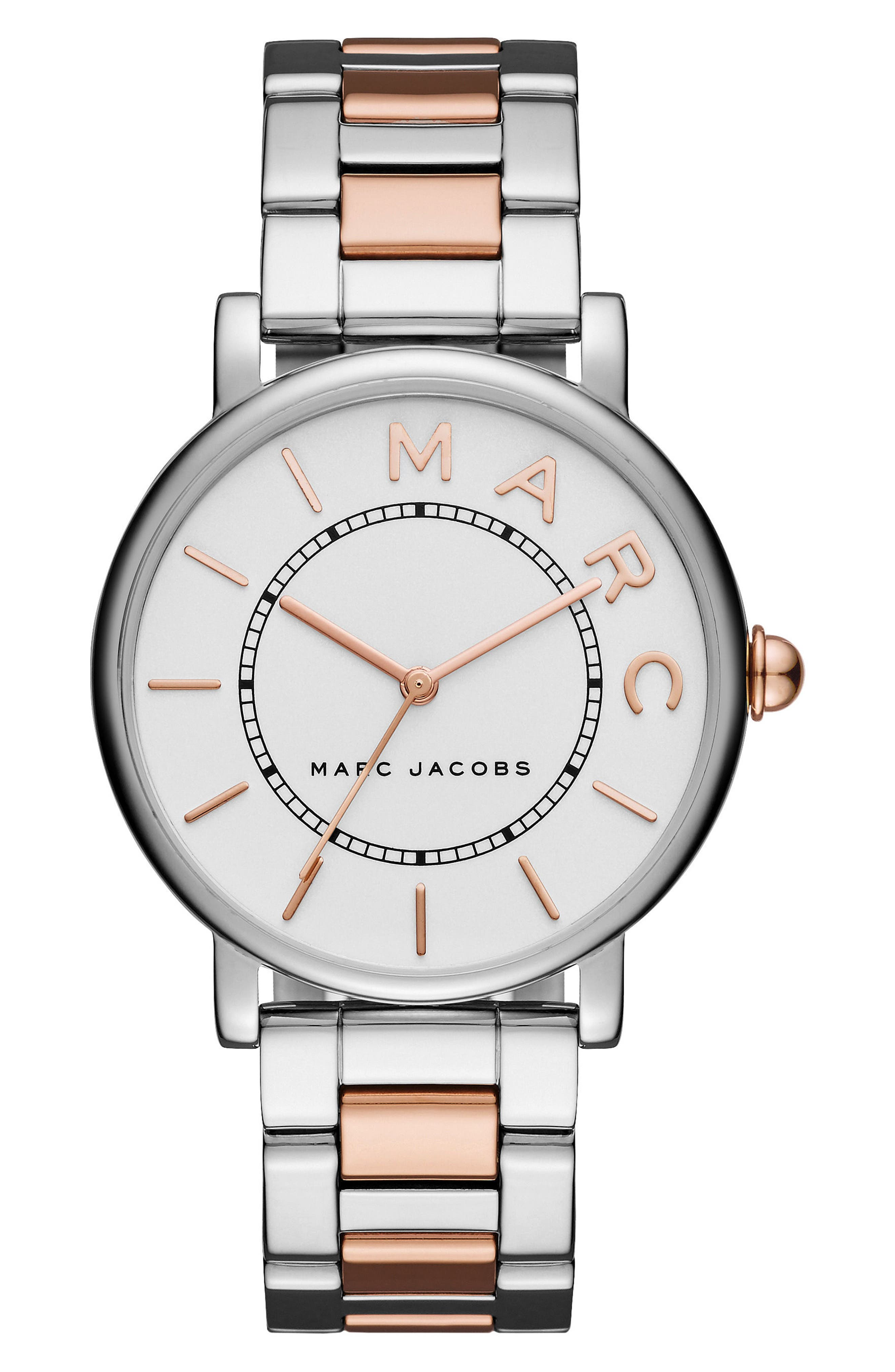 Classic Bracelet Watch, 36mm,                         Main,                         color, Silver/ Rose Gold/ White