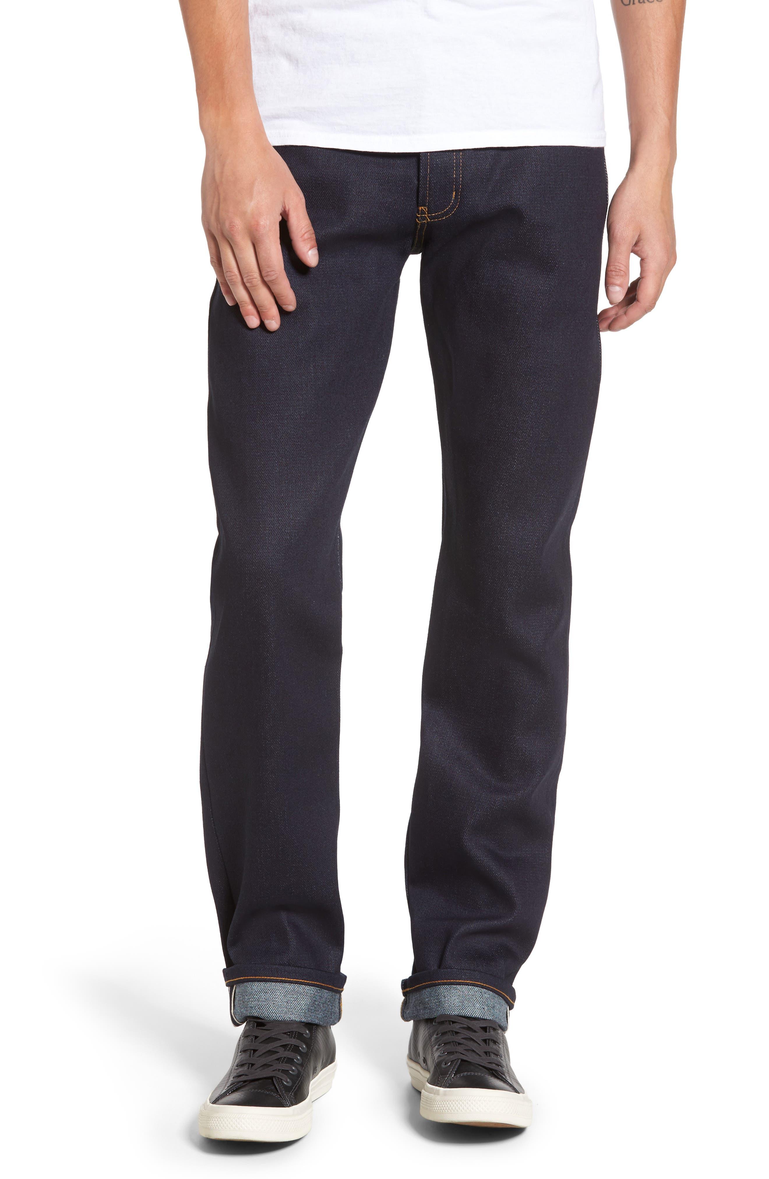Alternate Image 1 Selected - Naked & Famous Denim Weird Guy Slim Fit Jeans (Elephant 6)