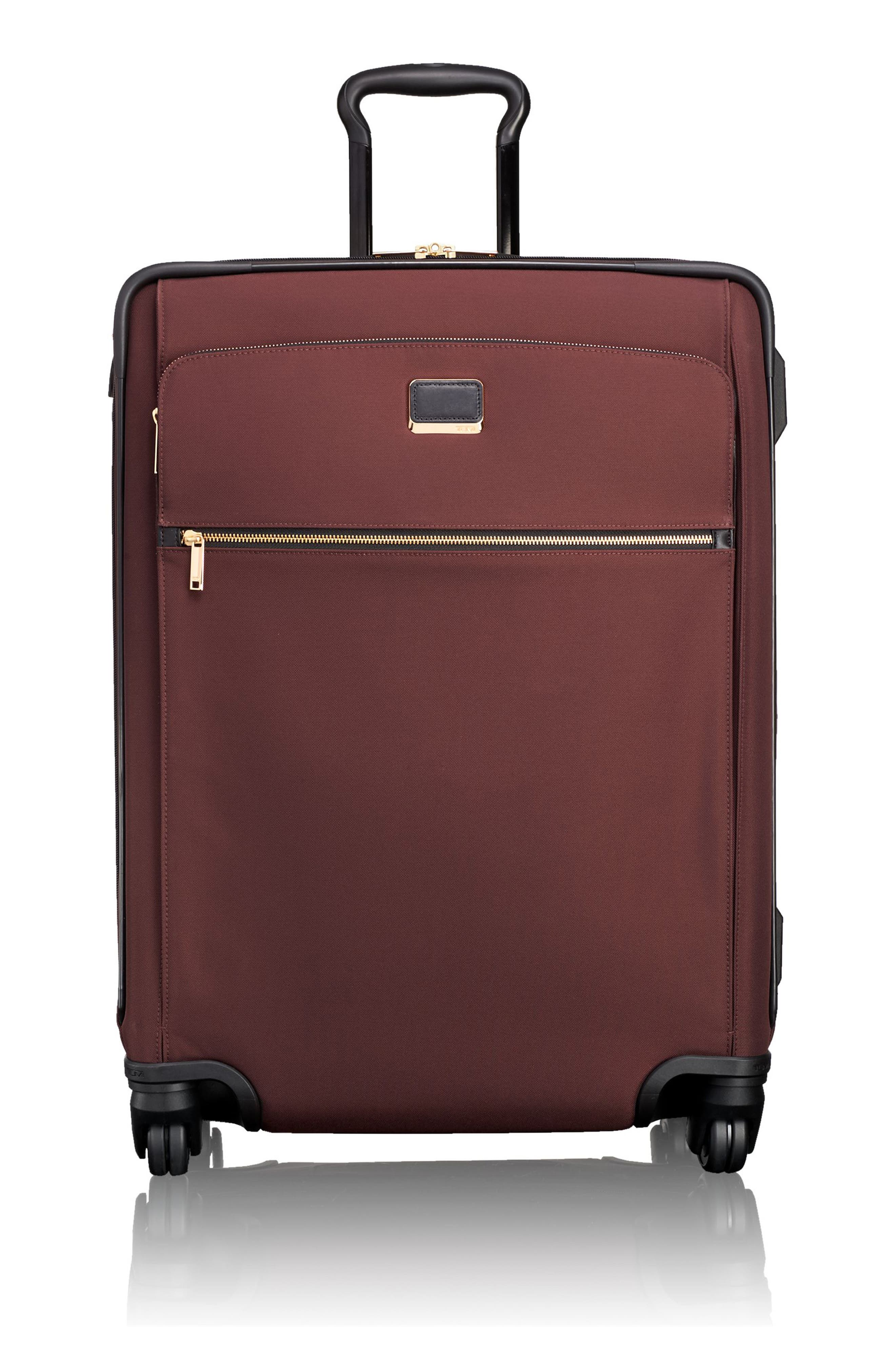 Jess Short Trip Expandable 26-Inch 4-Wheel Suitcase,                             Main thumbnail 1, color,                             Bordeaux