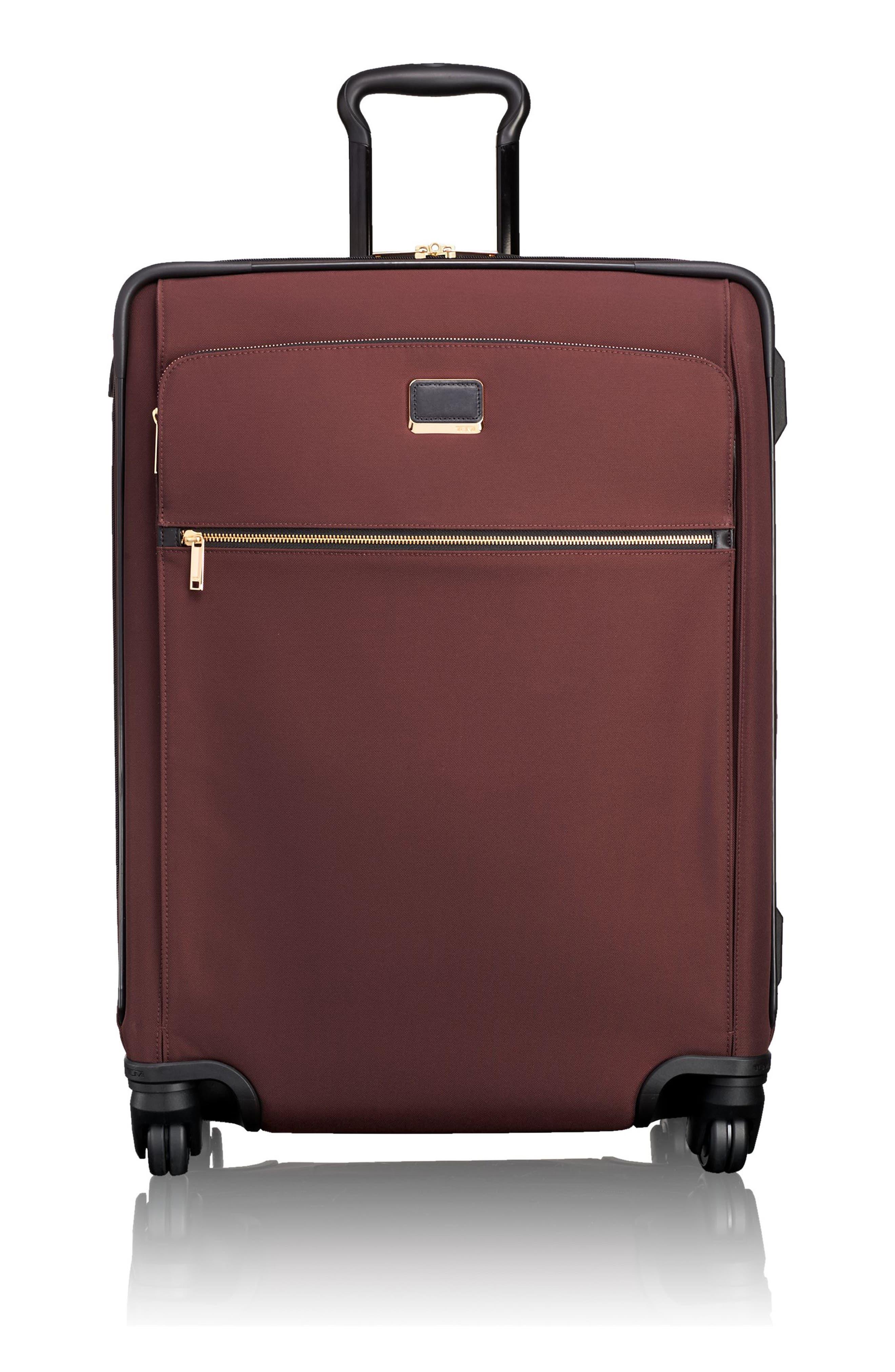 Jess Short Trip Expandable 26-Inch 4-Wheel Suitcase,                         Main,                         color, Bordeaux