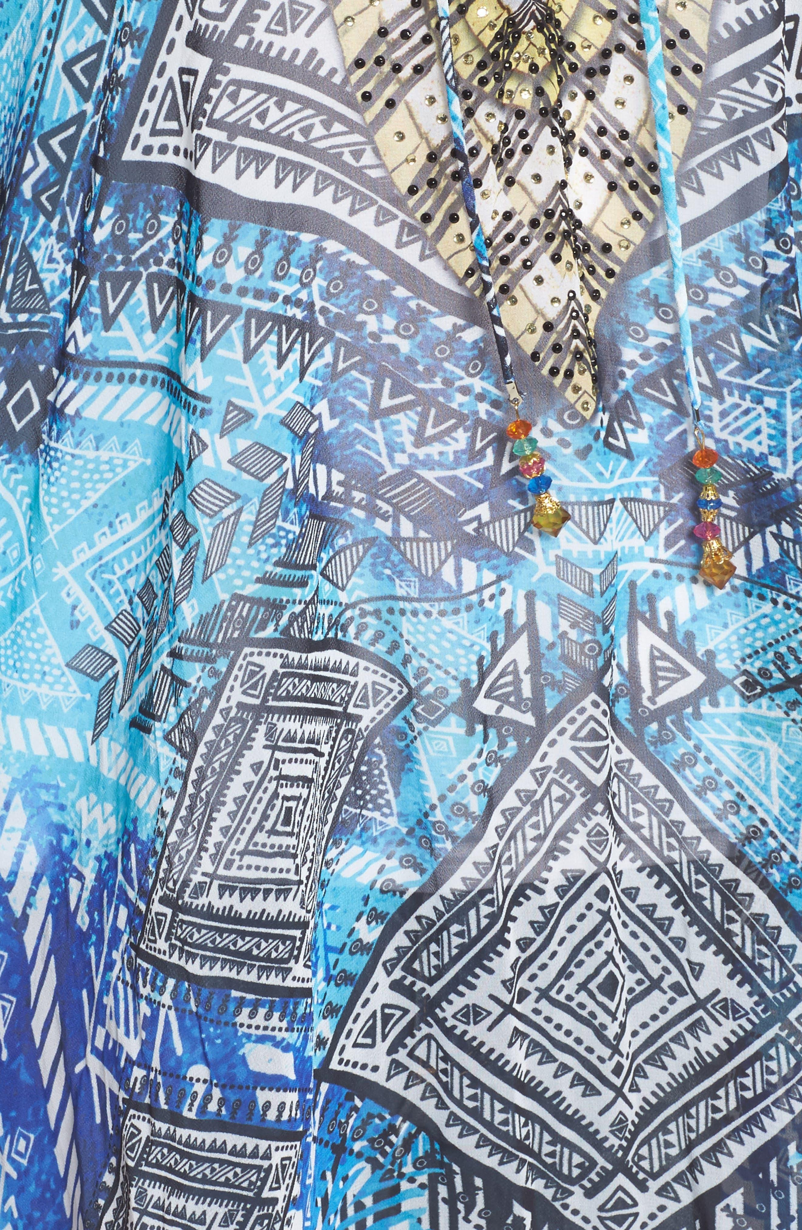'Fiji' Short Kaftan,                             Alternate thumbnail 6, color,                             Blue Multi