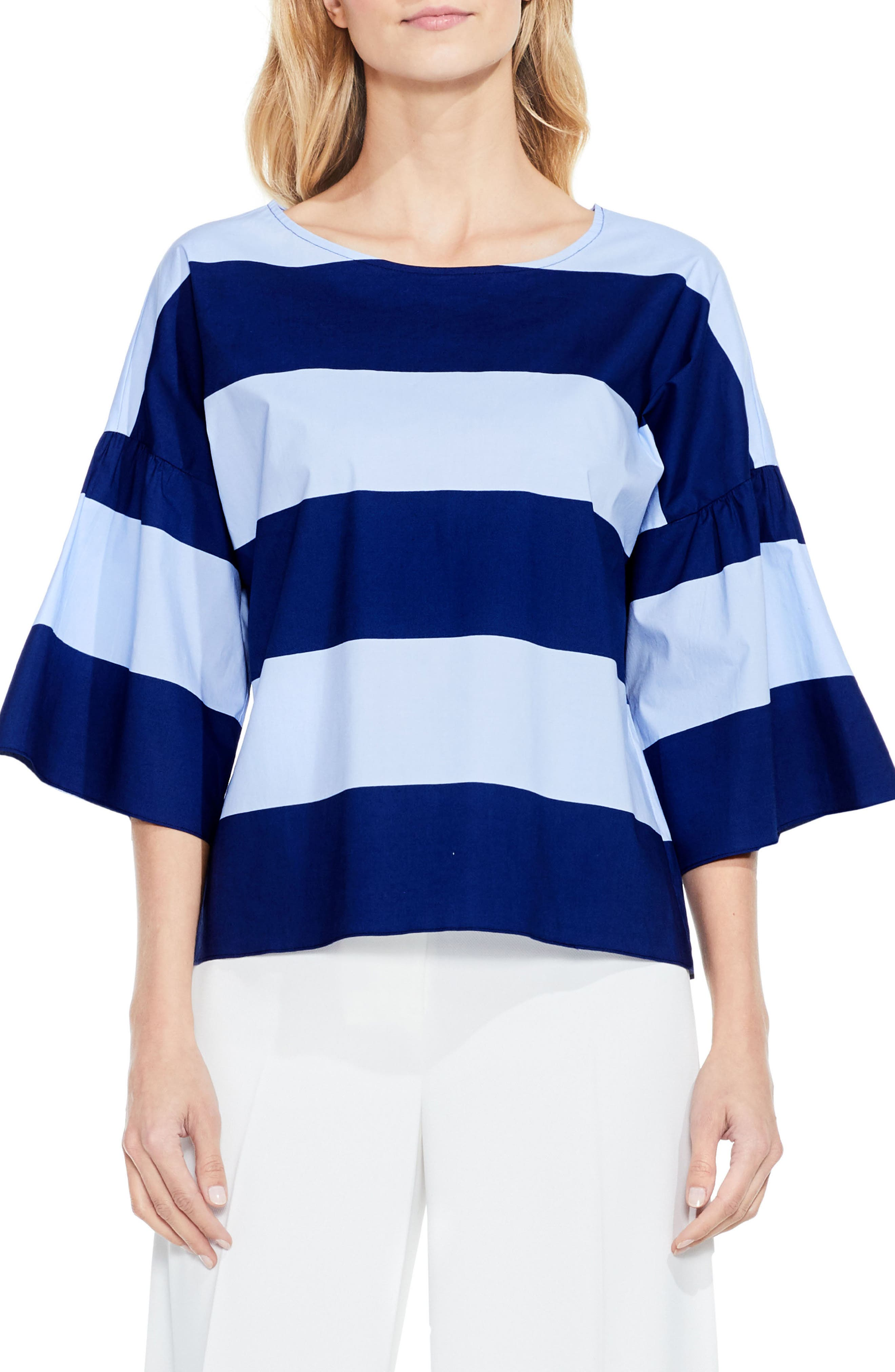 Vince Camuto Camden Bell Sleeve Blouse