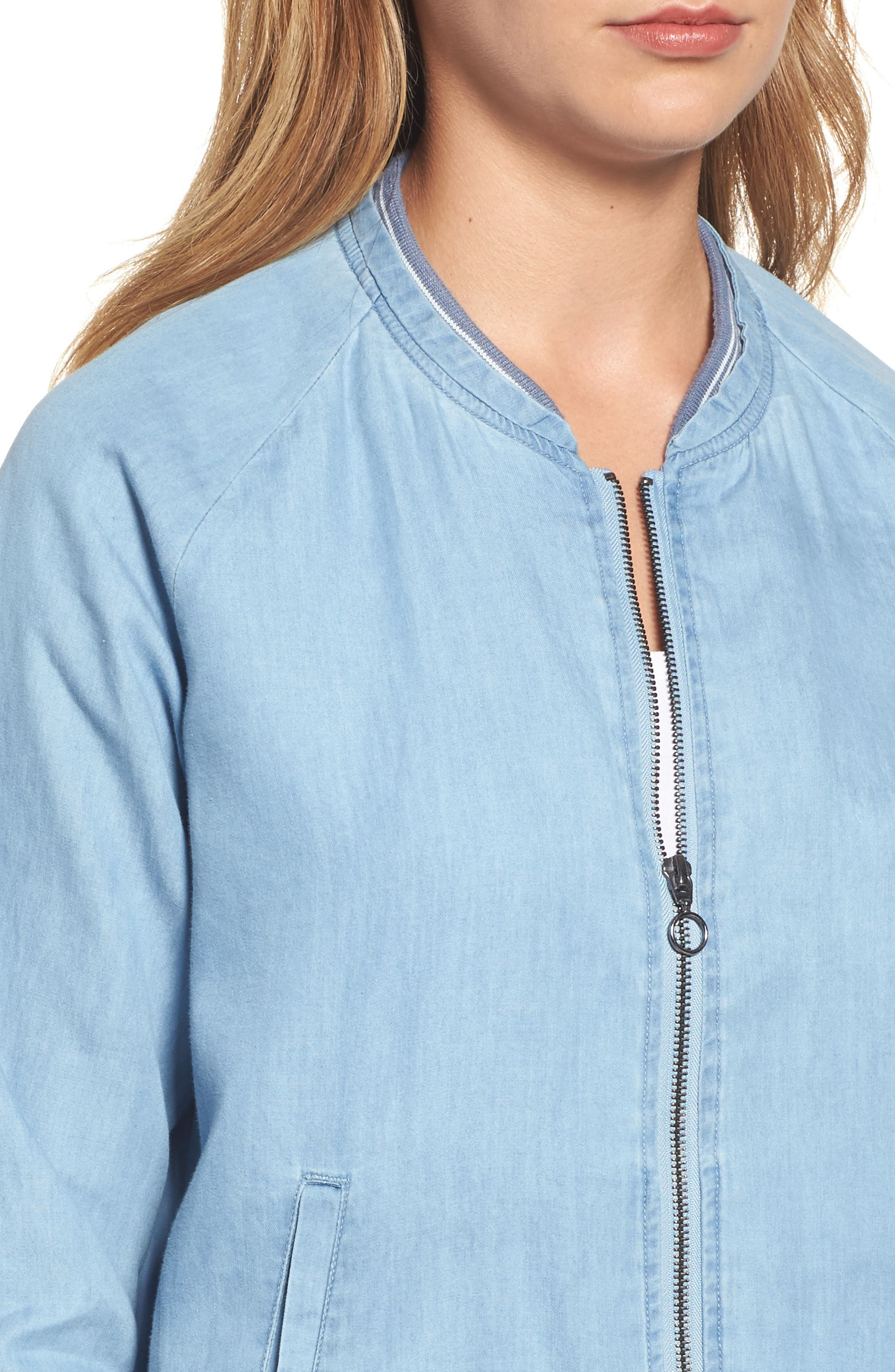 Alternate Image 4  - Wit & Wisdom Chambray Bomber Jacket (Nordstrom Exclusive)