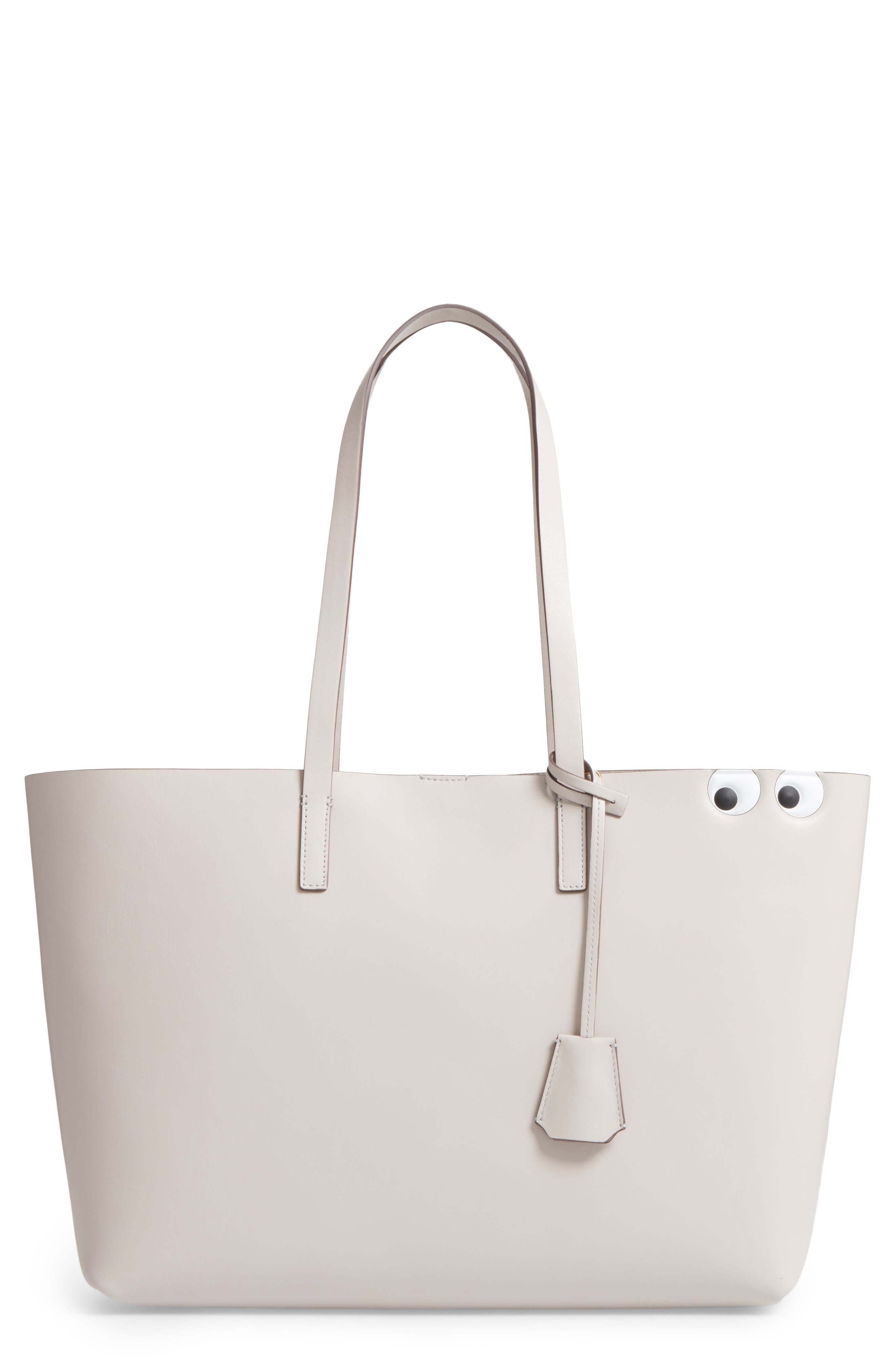 Ebury - Eyes Leather Tote,                             Main thumbnail 1, color,                             Steam