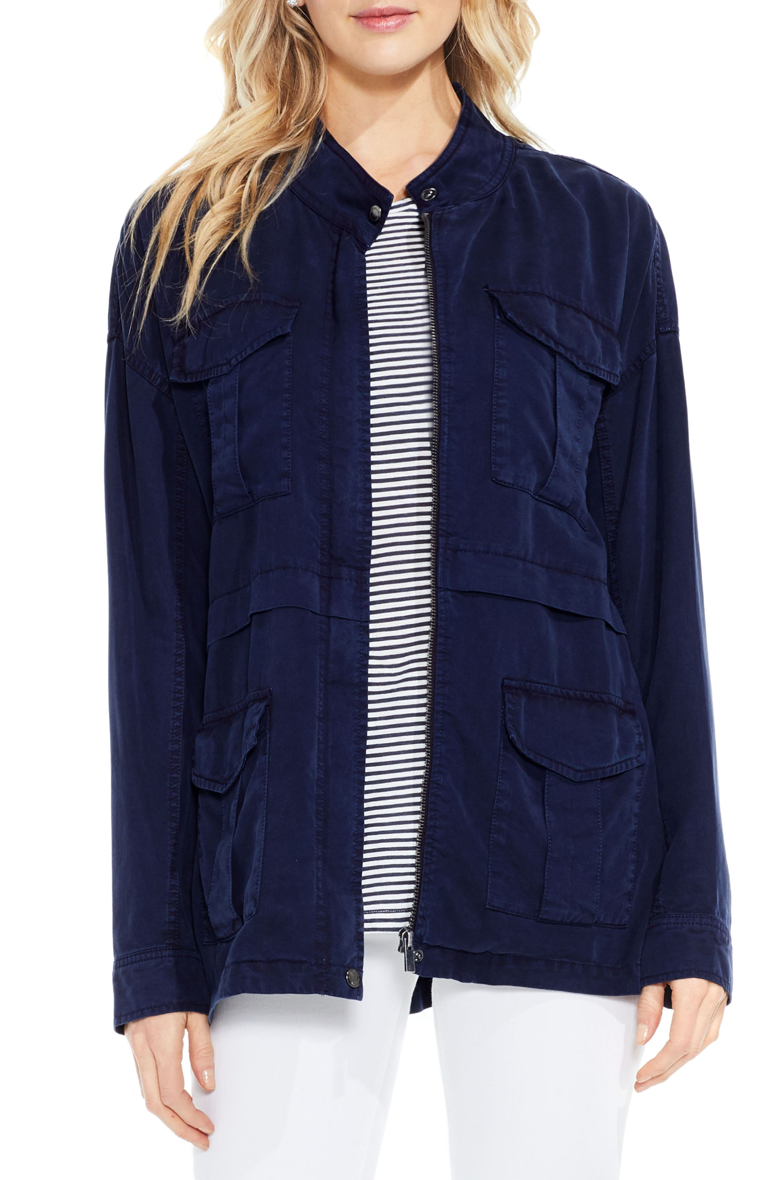 Two by Vince Camuto Twill Cargo Jacket