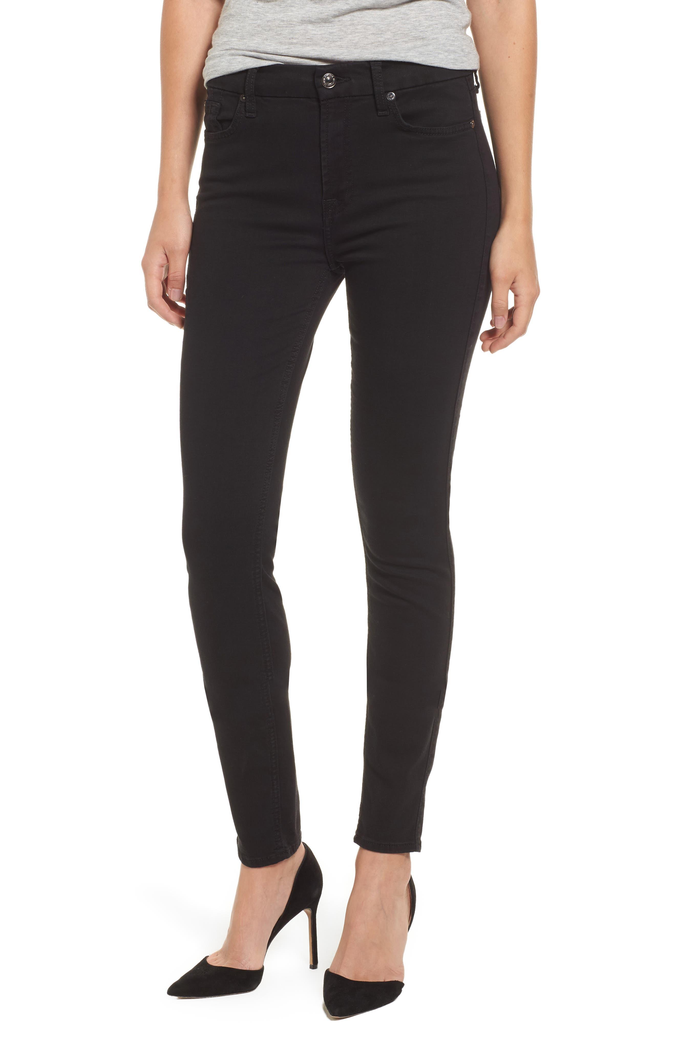 Alternate Image 1 Selected - 7 For All Mankind® b(air) High Waist Skinny Jeans (Bair Black)