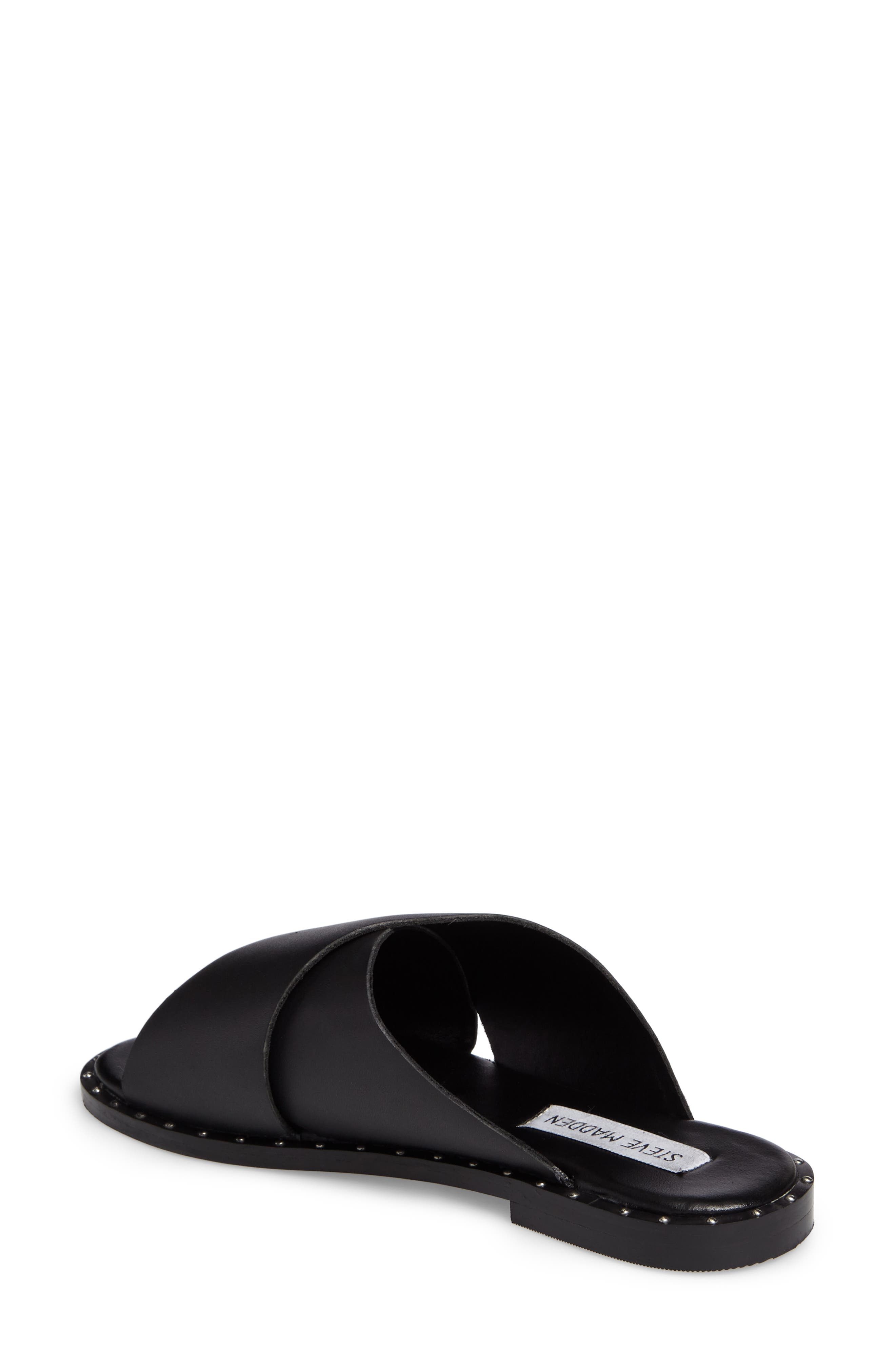 Alpha Slide Sandal,                             Alternate thumbnail 2, color,                             Black