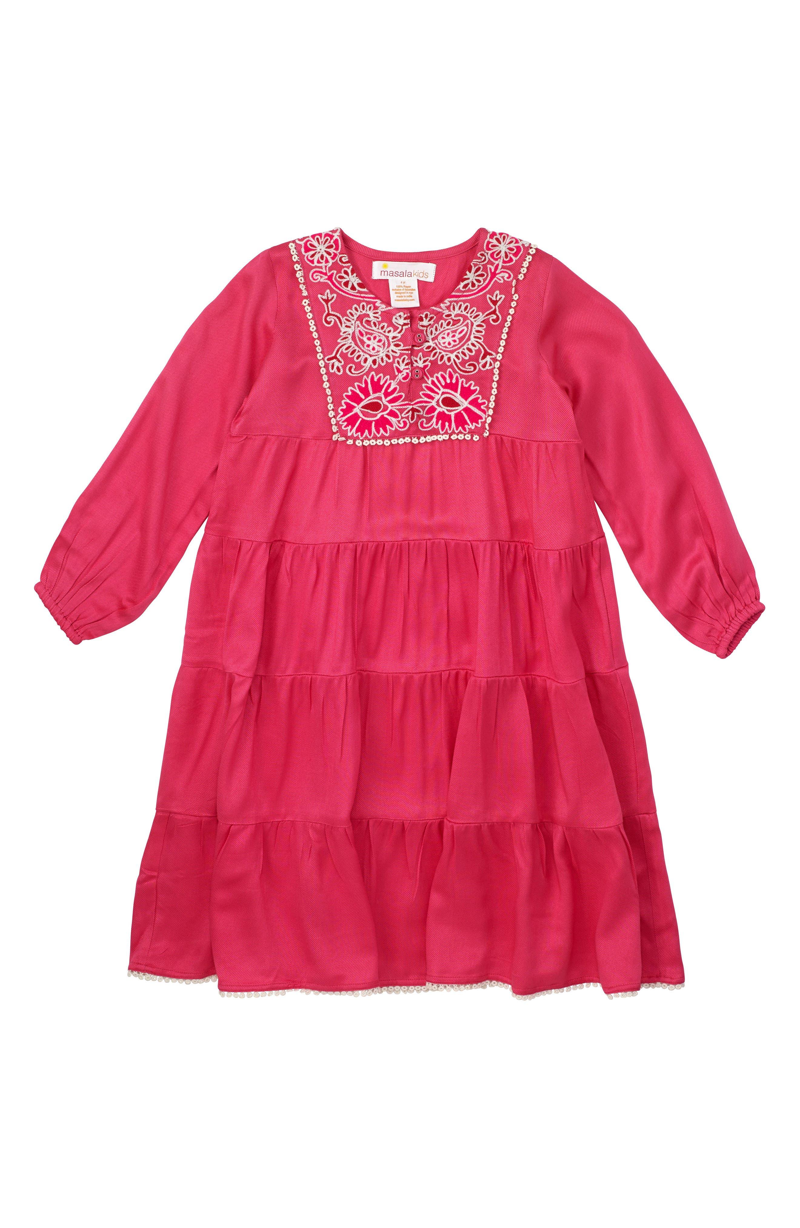 Main Image - Masasla Baby Rose Dress (Toddler Girls, Little Girls & Big Girls)