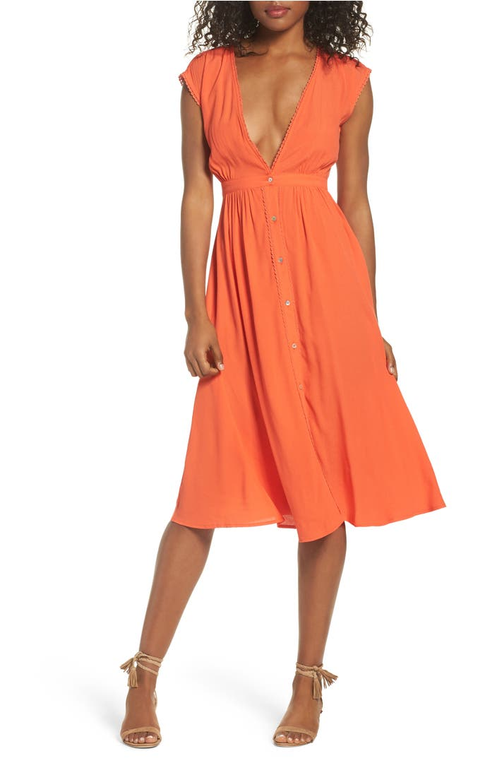 Knot Sisters Secret Garden Midi Dress Nordstrom