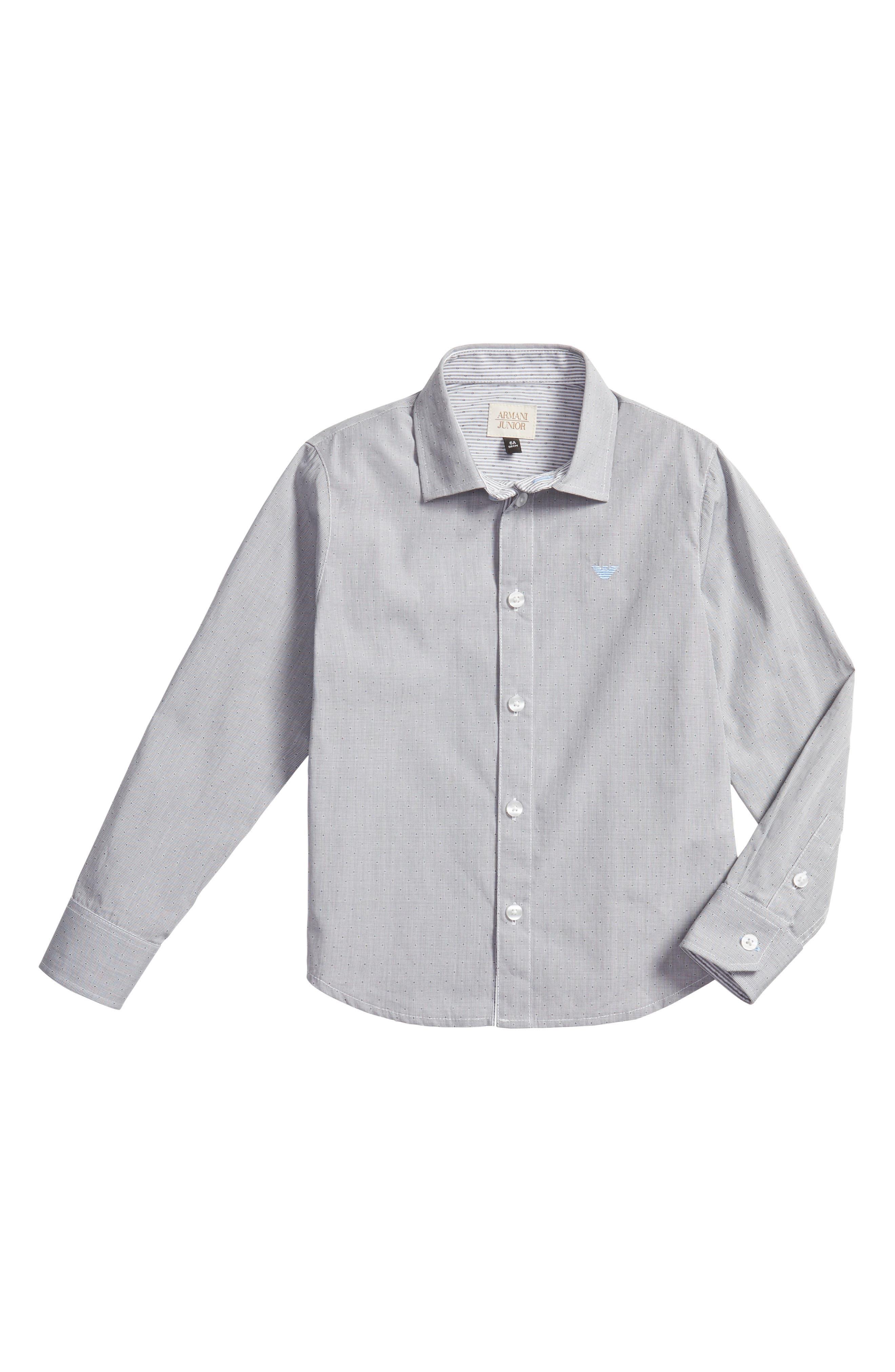Main Image - Armani Junior Stripe Dress Shirt (Little Boys & Big Boys)