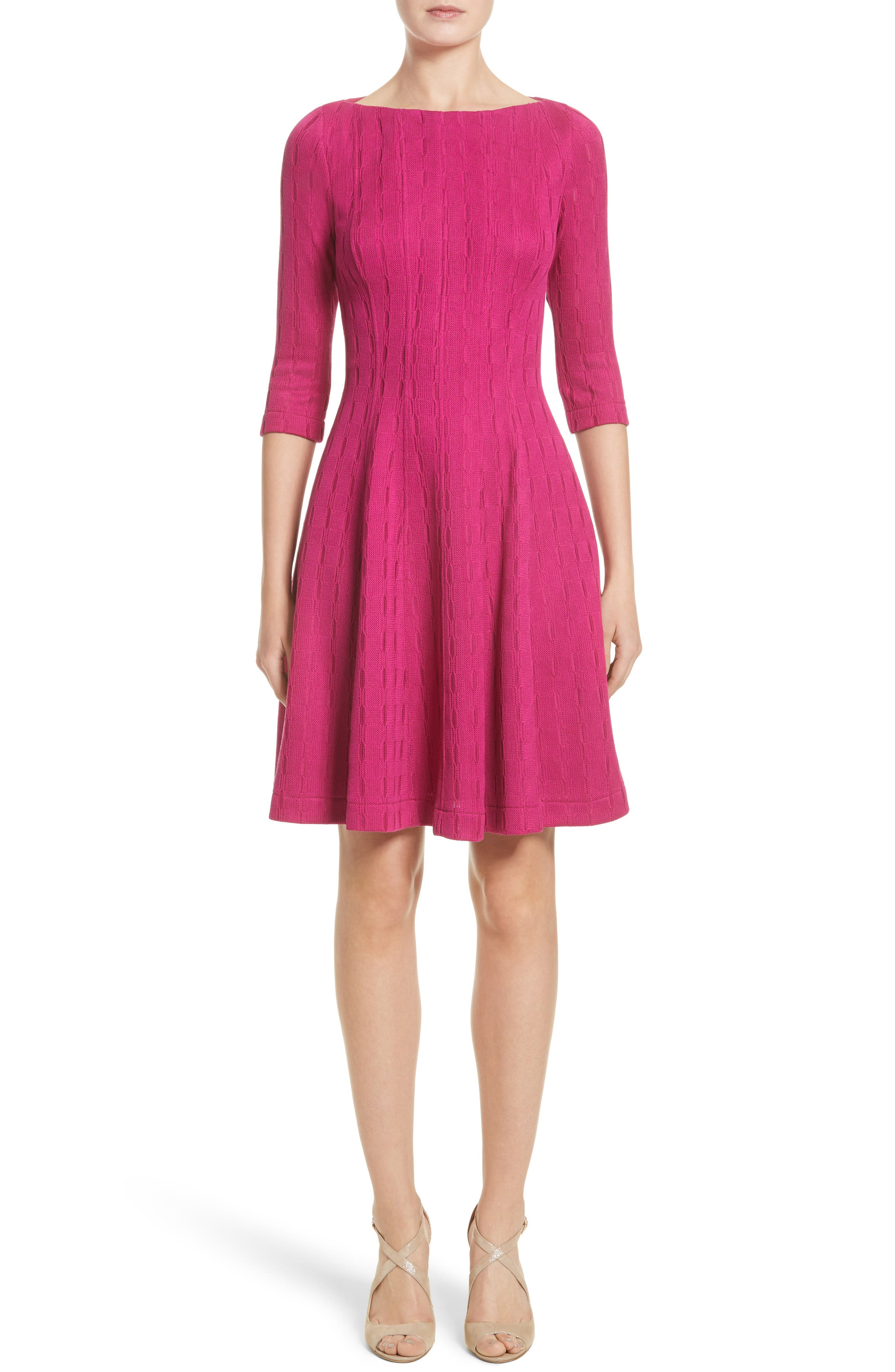 Lela Rose Knit Fit & Flare Dress (Nordstrom Exclusive)