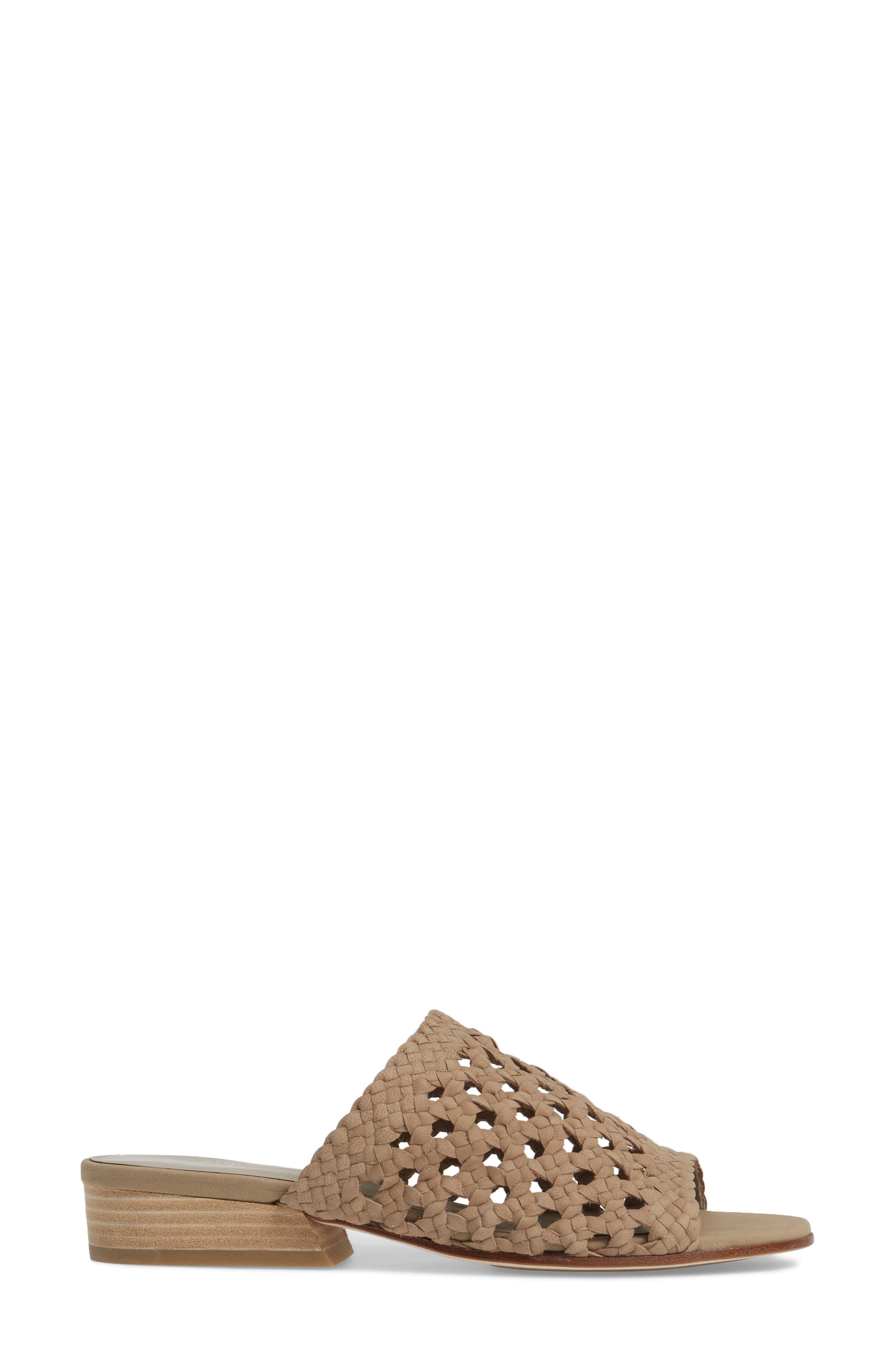 Aloe Slide Sandal,                             Alternate thumbnail 3, color,                             Earth Leather