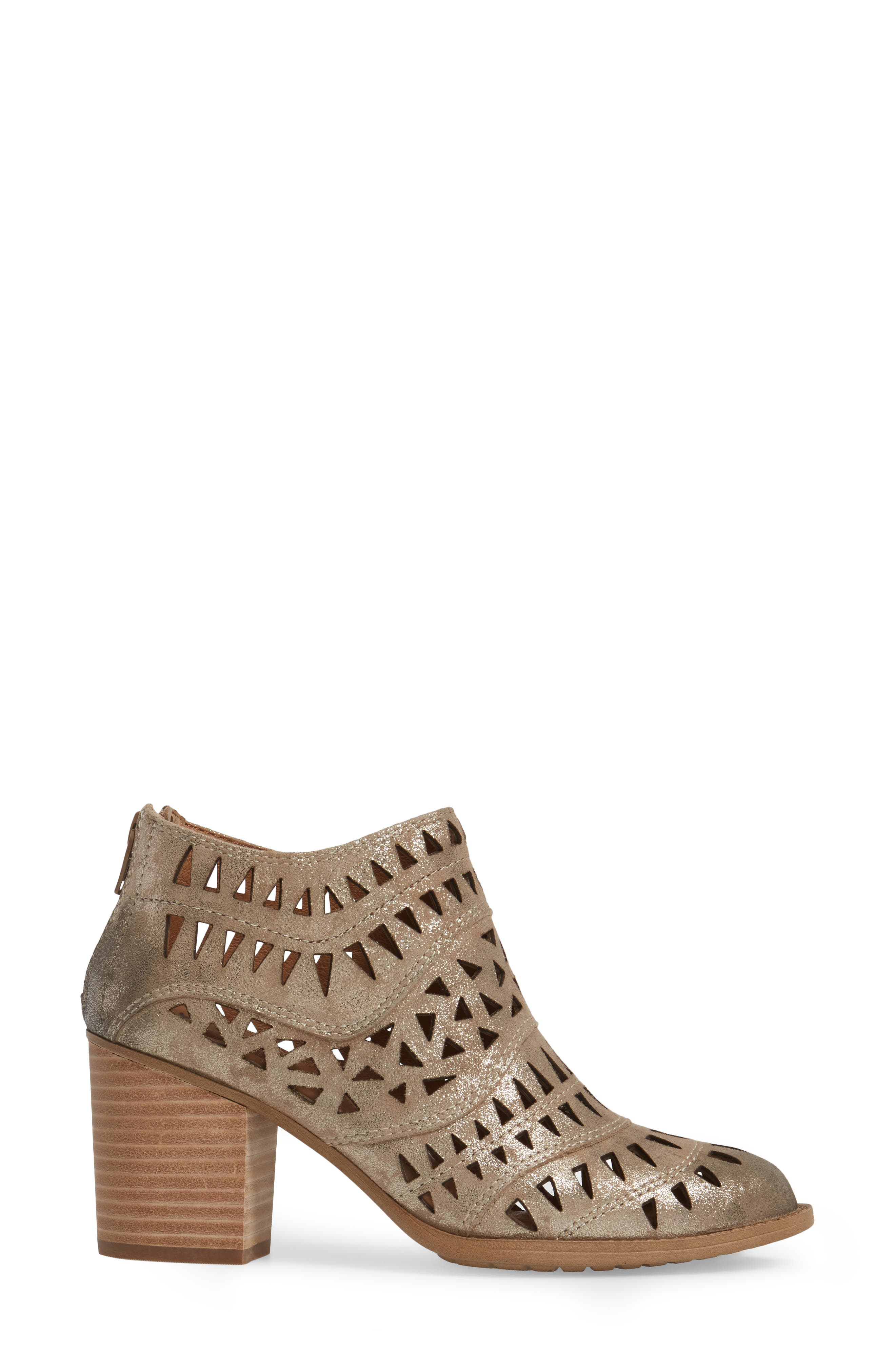 Westwood Laser Cut Bootie,                             Alternate thumbnail 3, color,                             Anthracite Distressed Foil