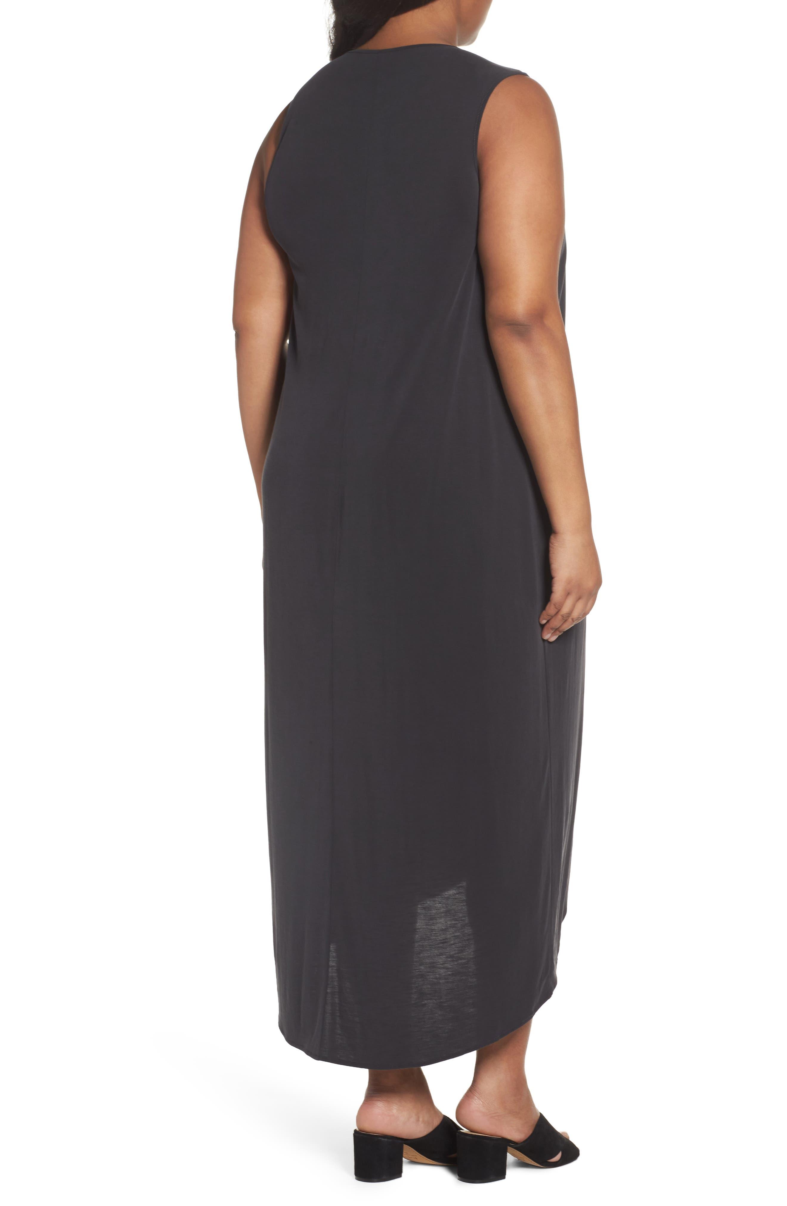 Boardwalk Jersey High/Low Dress,                             Alternate thumbnail 2, color,                             Washed Black