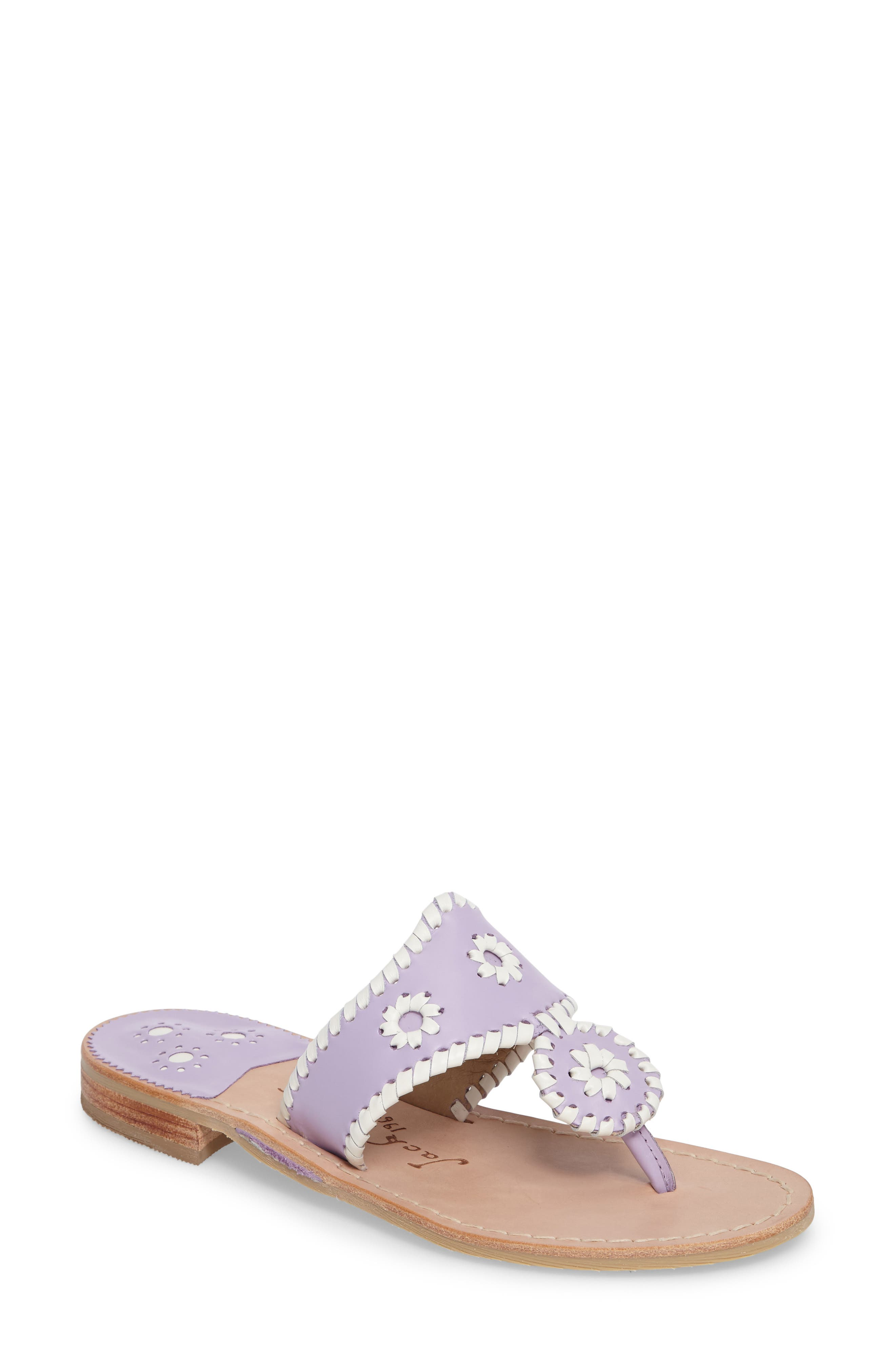 Pretty In Pastel Sandal,                             Main thumbnail 1, color,                             Lilac Leather