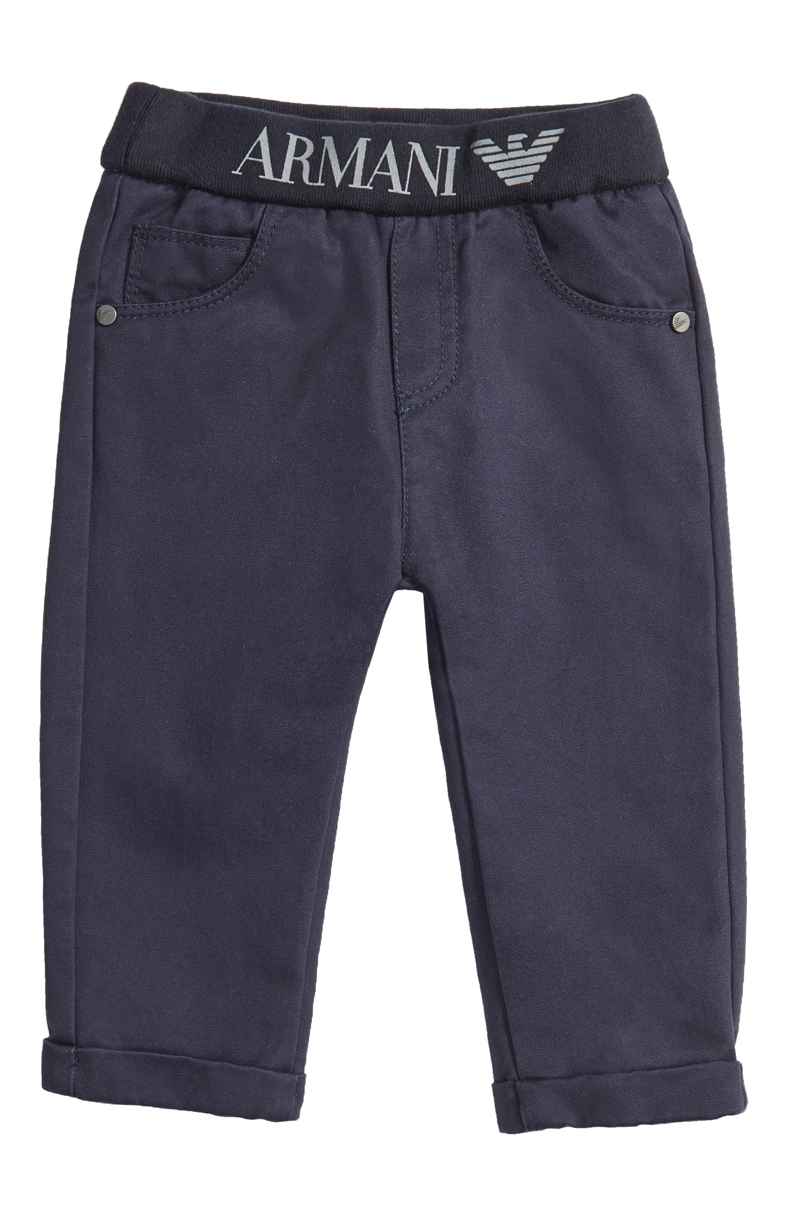 Cotton Twill Pants,                         Main,                         color, Navy