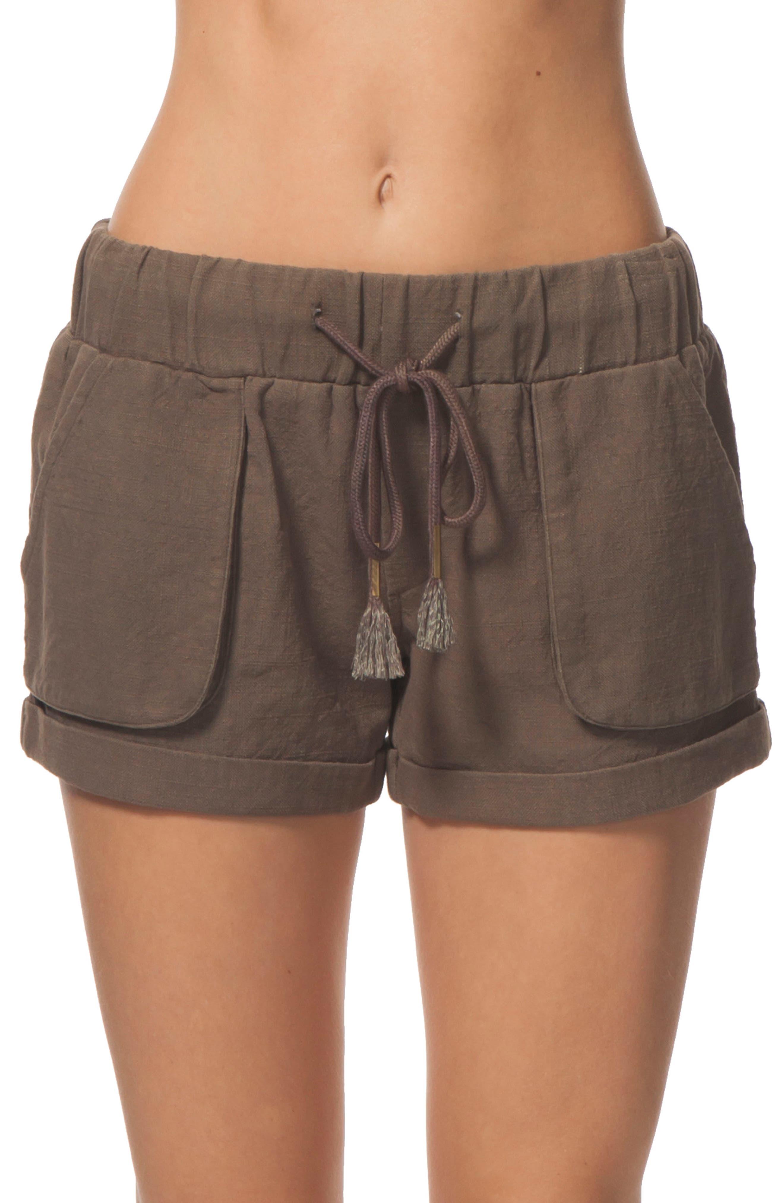 Tumbleweed Cotton Shorts,                             Alternate thumbnail 2, color,                             Army