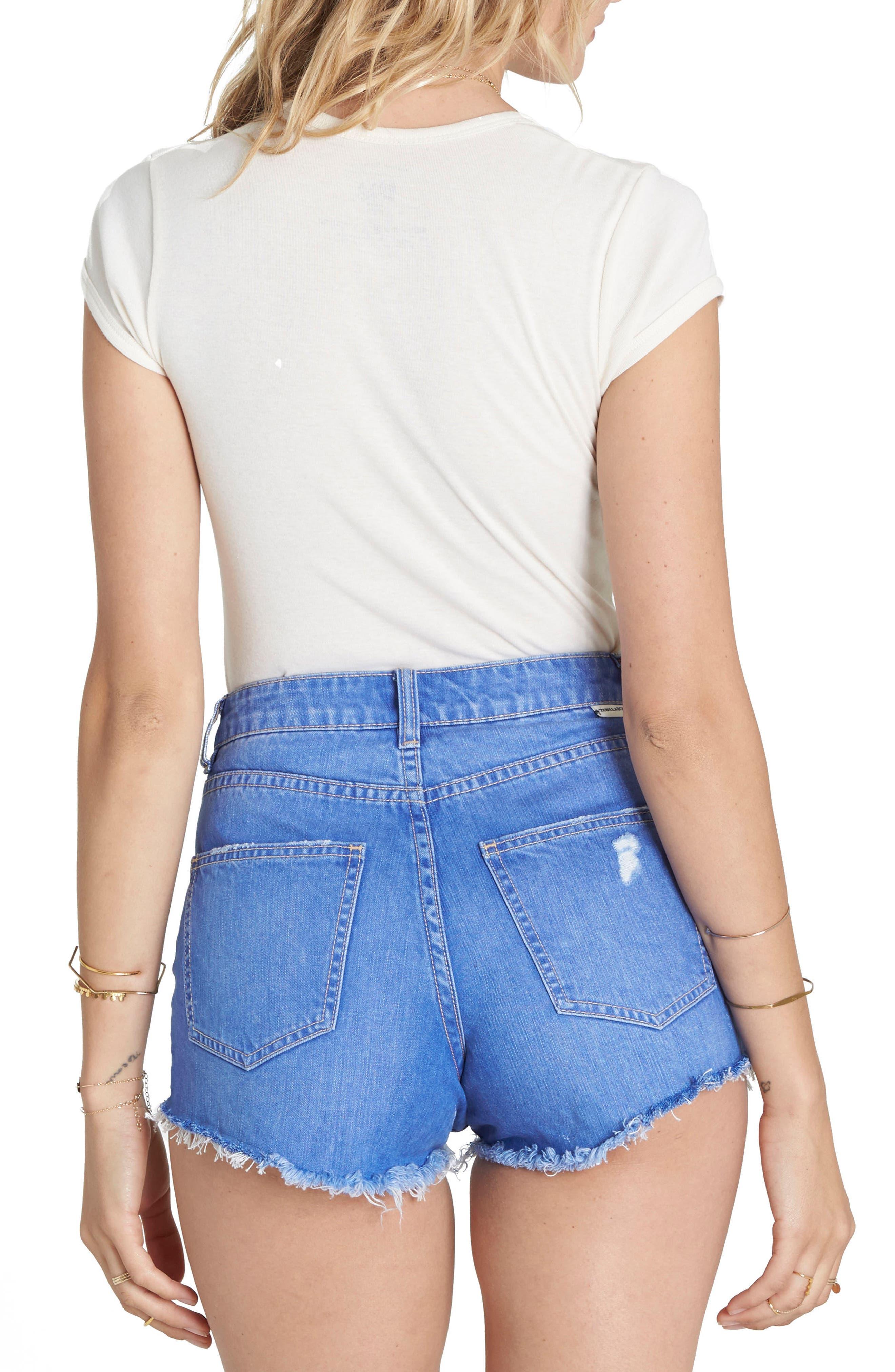 Alternate Image 2  - Billabong High Drive Cutoff Denim Shorts