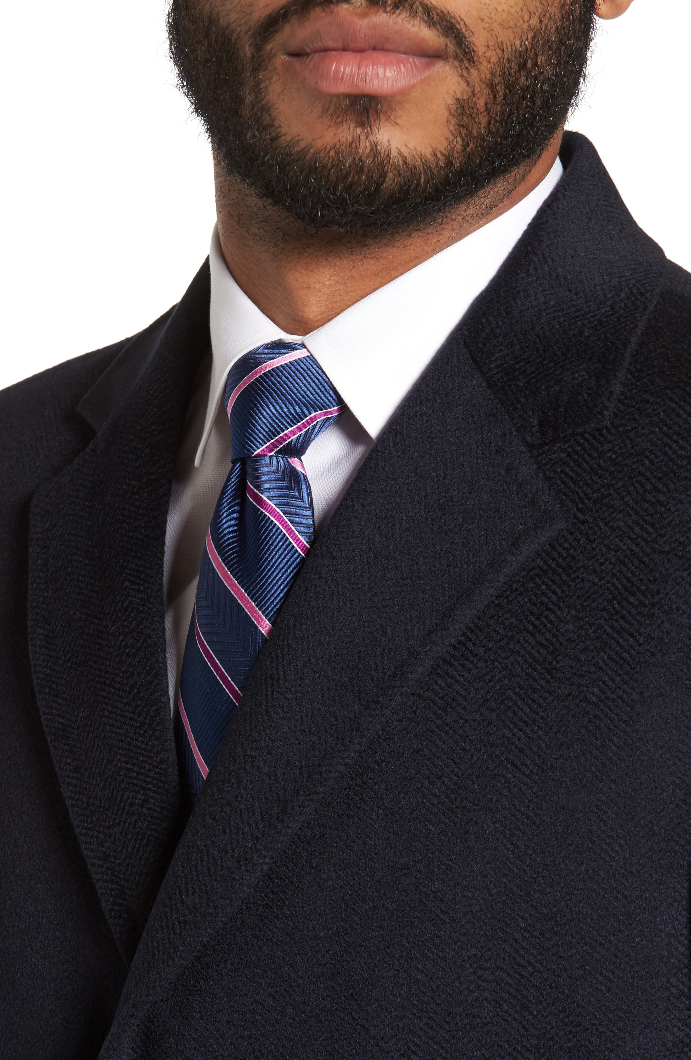 Culton Cashmere Overcoat,                             Alternate thumbnail 4, color,                             Navy