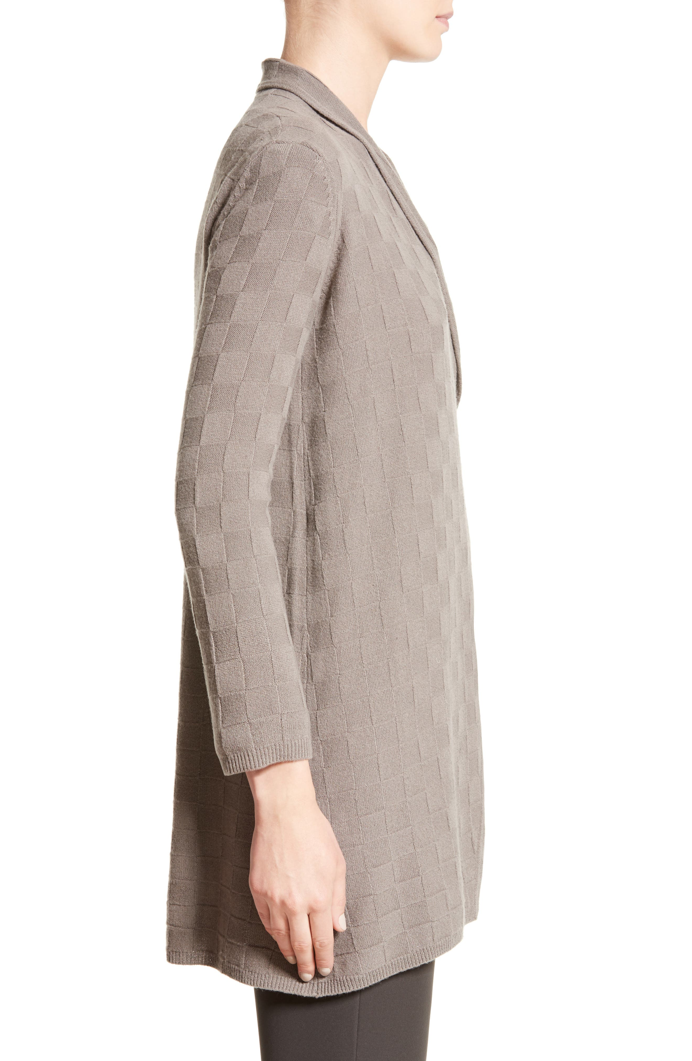 Alternate Image 5  - Armani Collezioni Checkerboard Cashmere Drape Cardigan