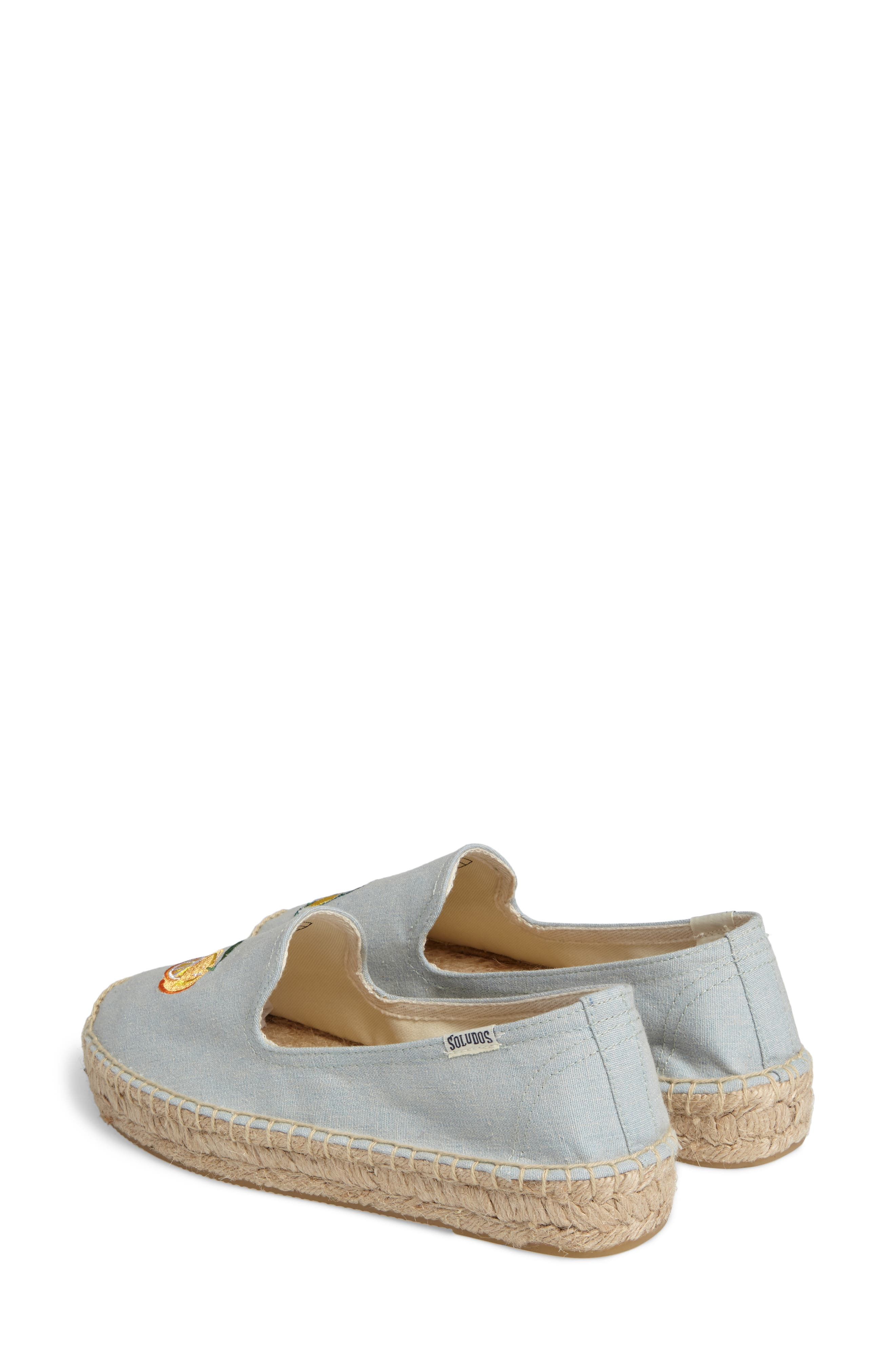 Mimosa Embroidered Platform Espadrille,                             Alternate thumbnail 2, color,                             Chambray
