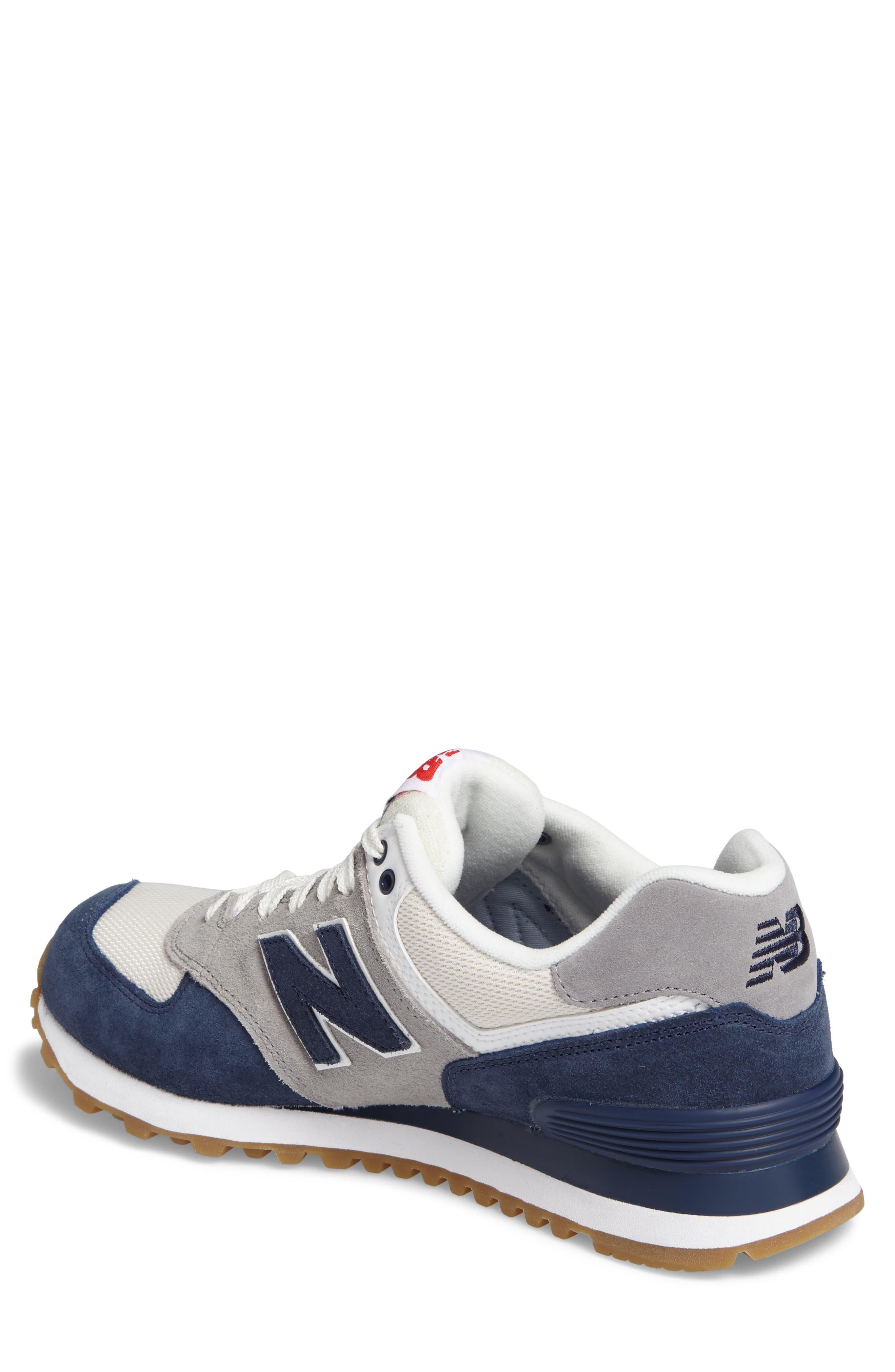 574 Retro Sport Sneaker,                             Alternate thumbnail 2, color,                             Electric Blue