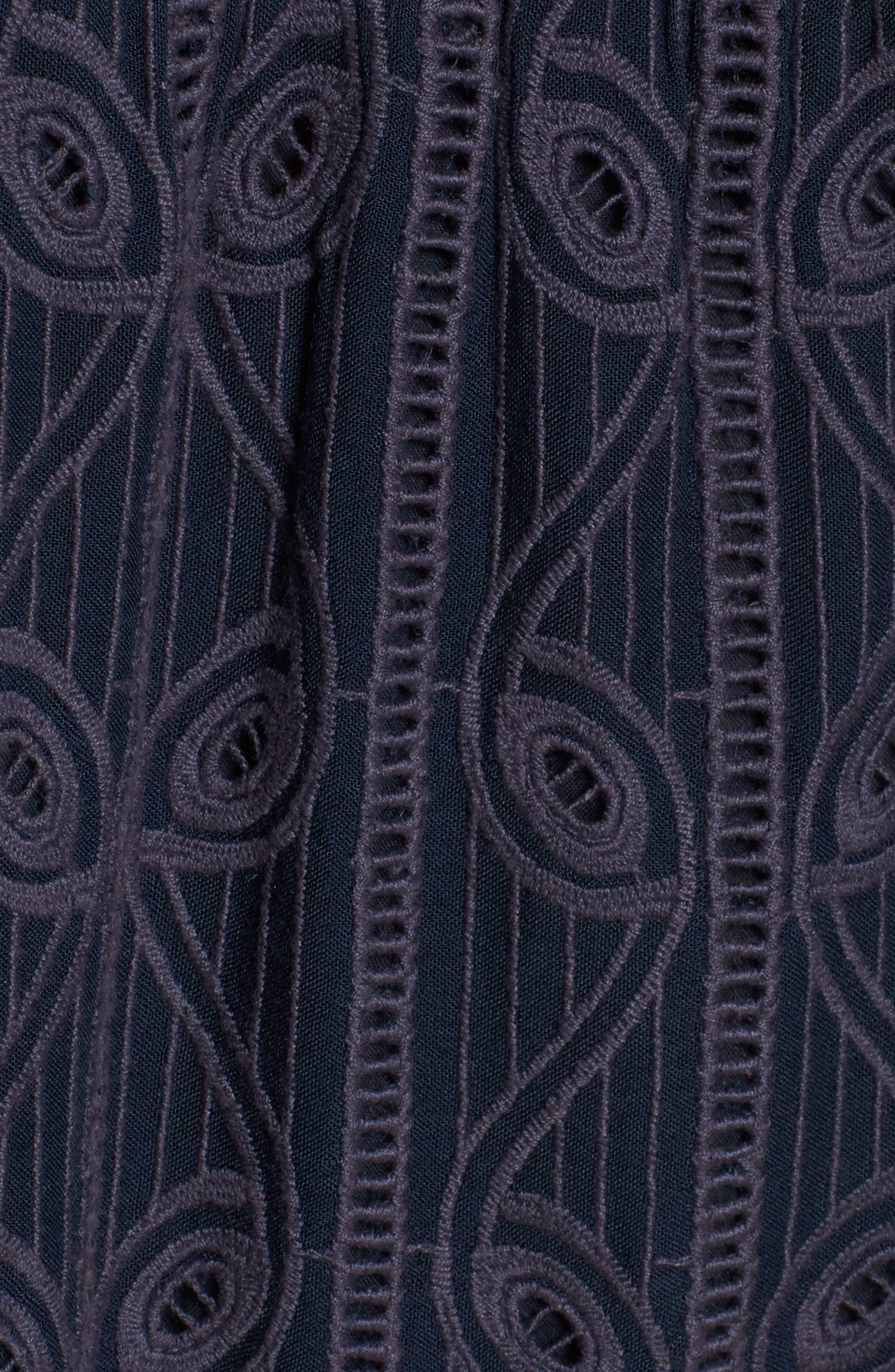Quinn Off the Shoulder Dress,                             Alternate thumbnail 5, color,                             Armada Stripe