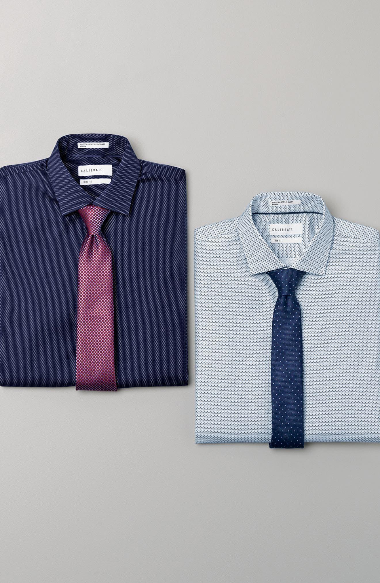 Dot Cotton & Silk Tie,                             Alternate thumbnail 3, color,