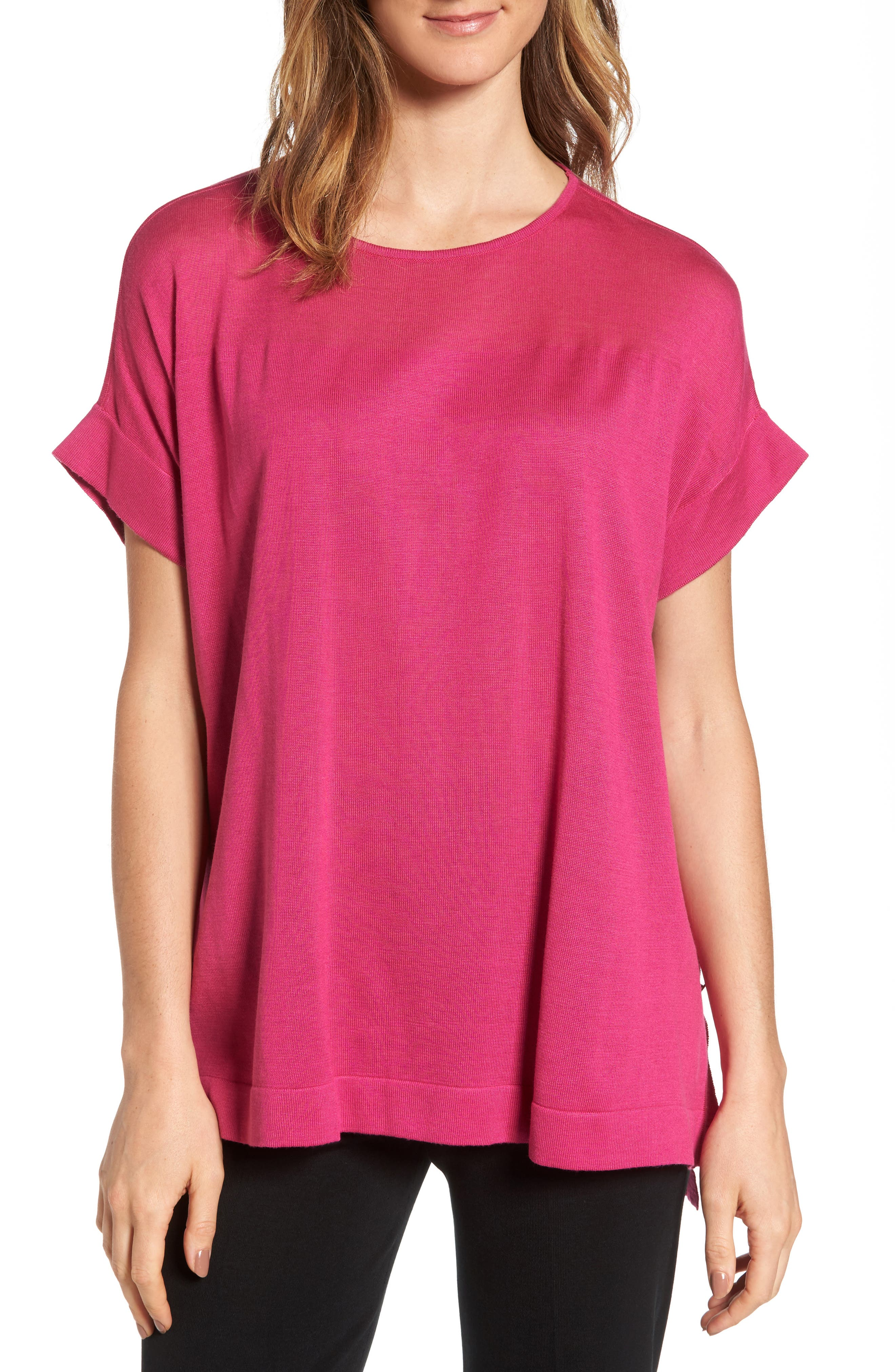 Snap Side Tunic,                         Main,                         color, Orchid