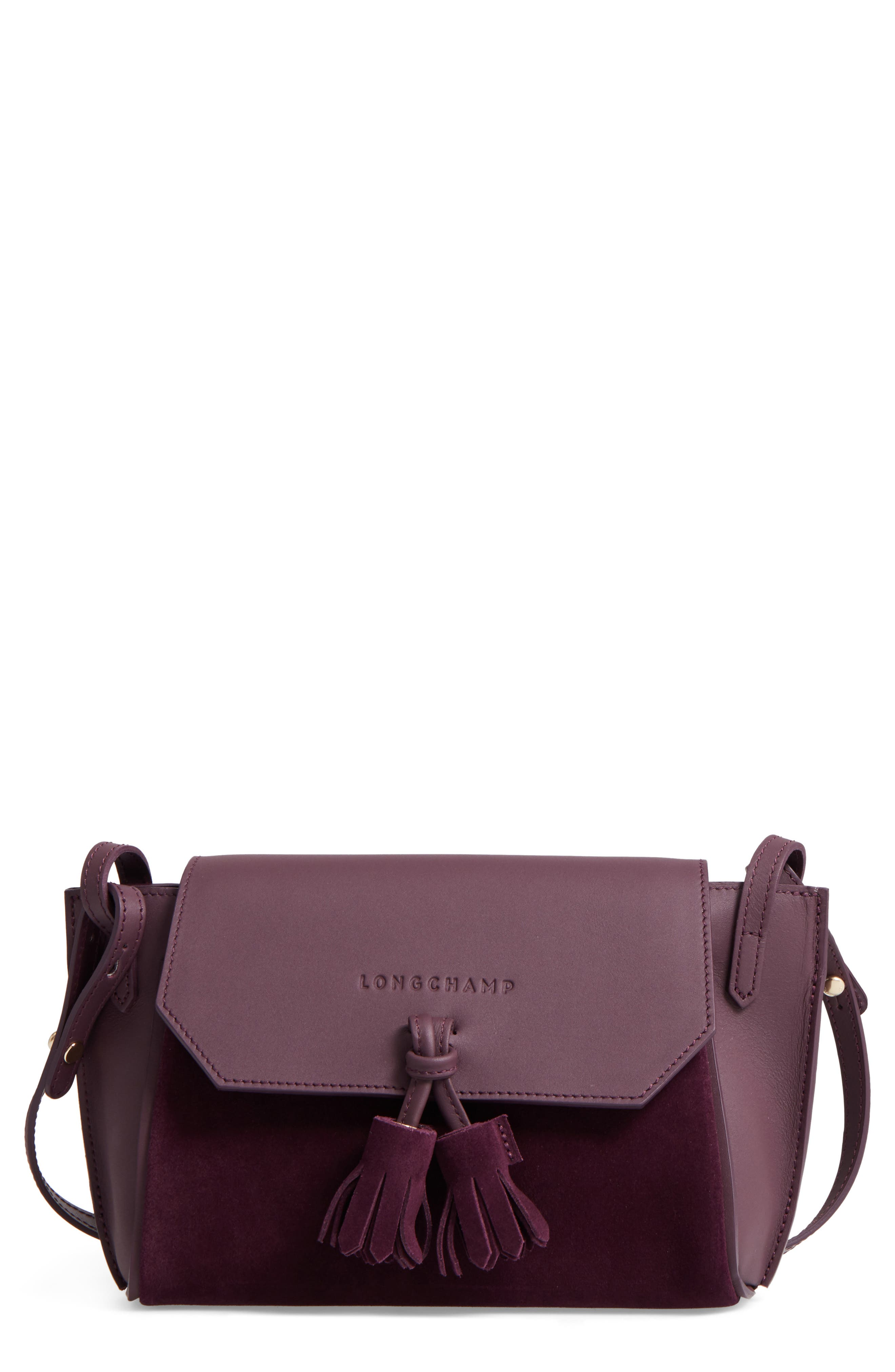 Alternate Image 1 Selected - Longchamp Small Penelope Leather Crossbody Bag