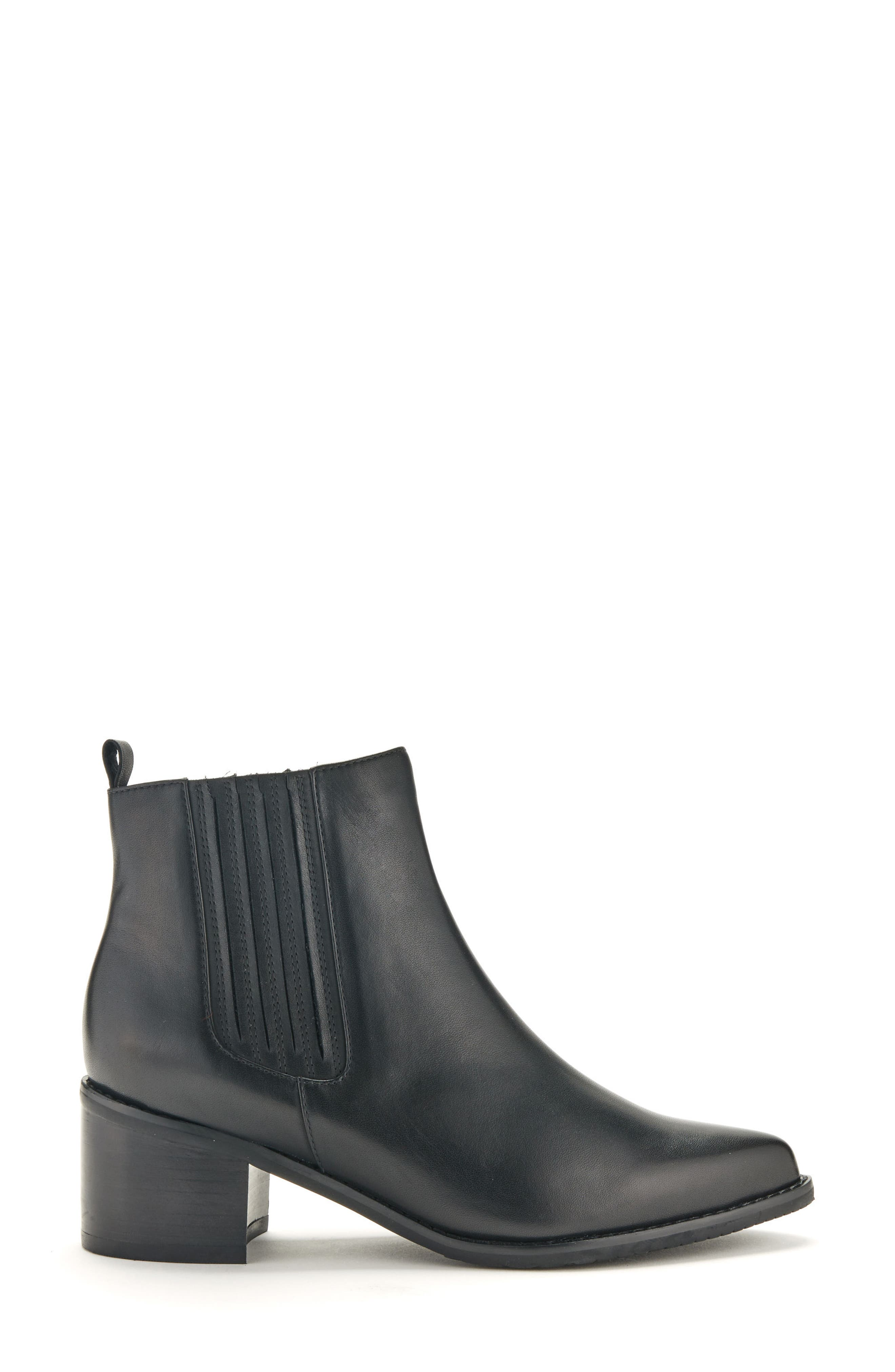 Elvina Waterproof Bootie,                             Alternate thumbnail 3, color,                             Black Leather