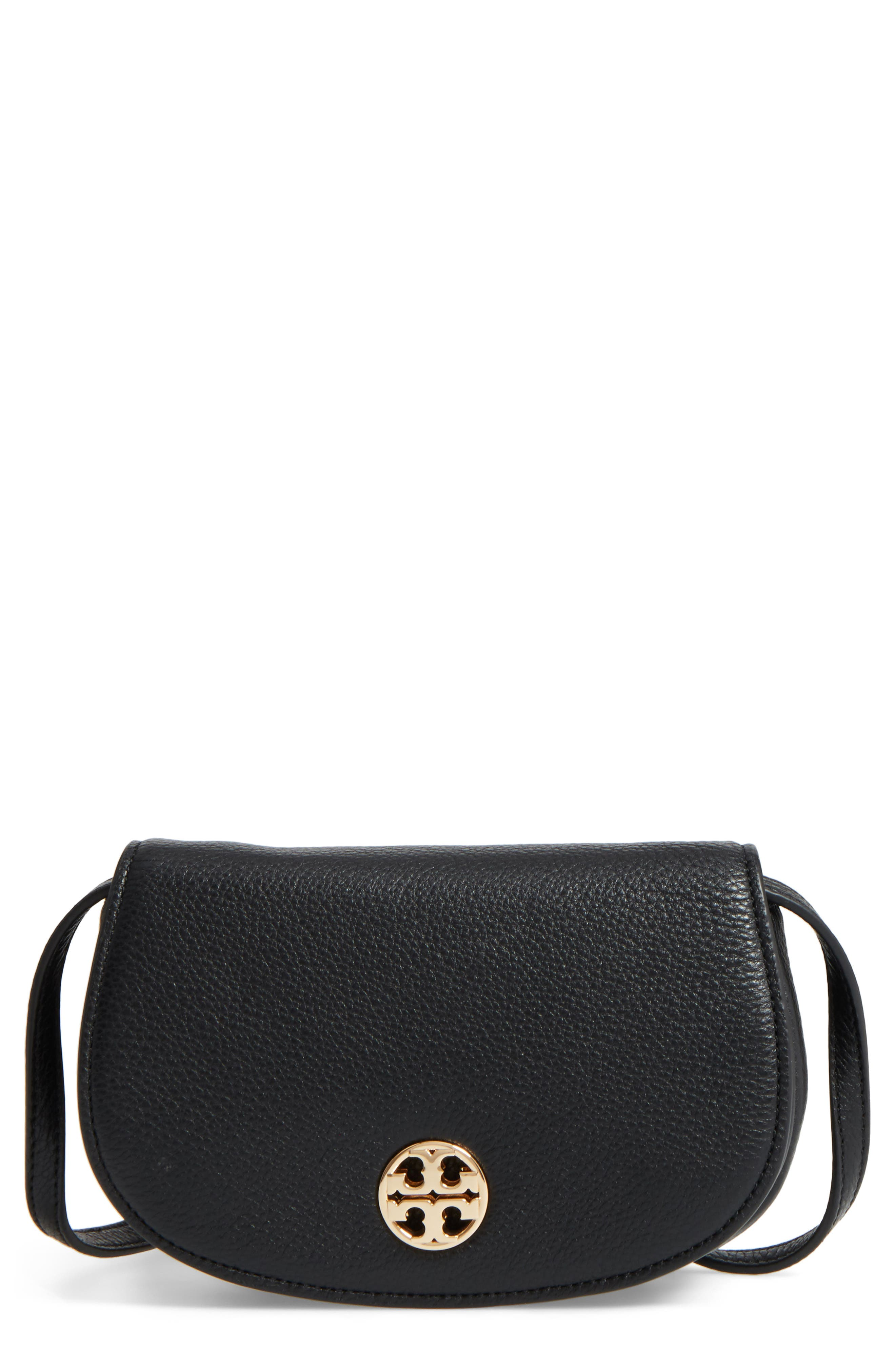 Mini Jamie Leather Crossbody Bag,                             Main thumbnail 1, color,                             Black