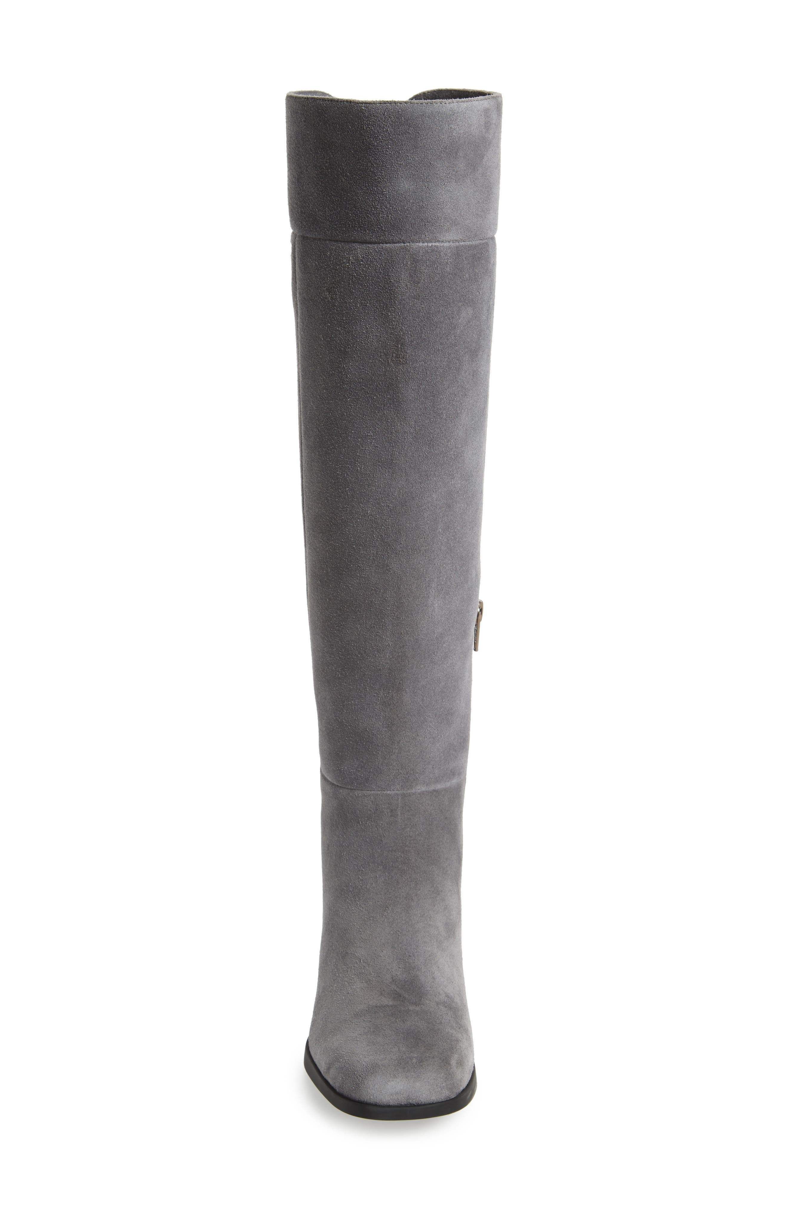 Kobo Knee High Boot,                             Alternate thumbnail 4, color,                             Grey Leather