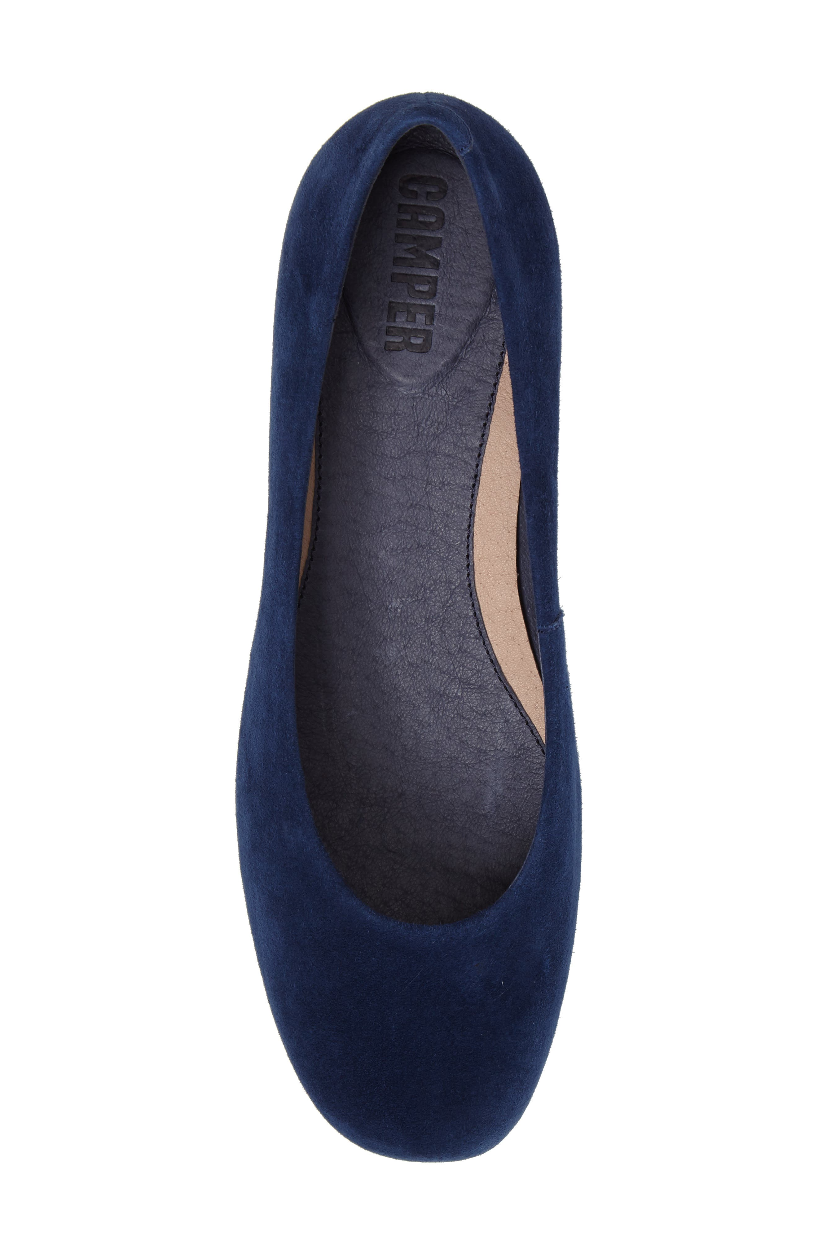 Serena Flat,                             Alternate thumbnail 5, color,                             Blue Leather