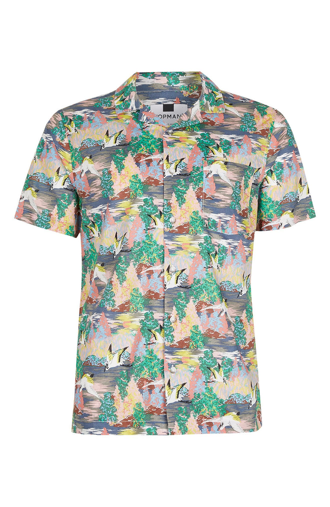 Alternate Image 5  - Topman Heron Print Shirt