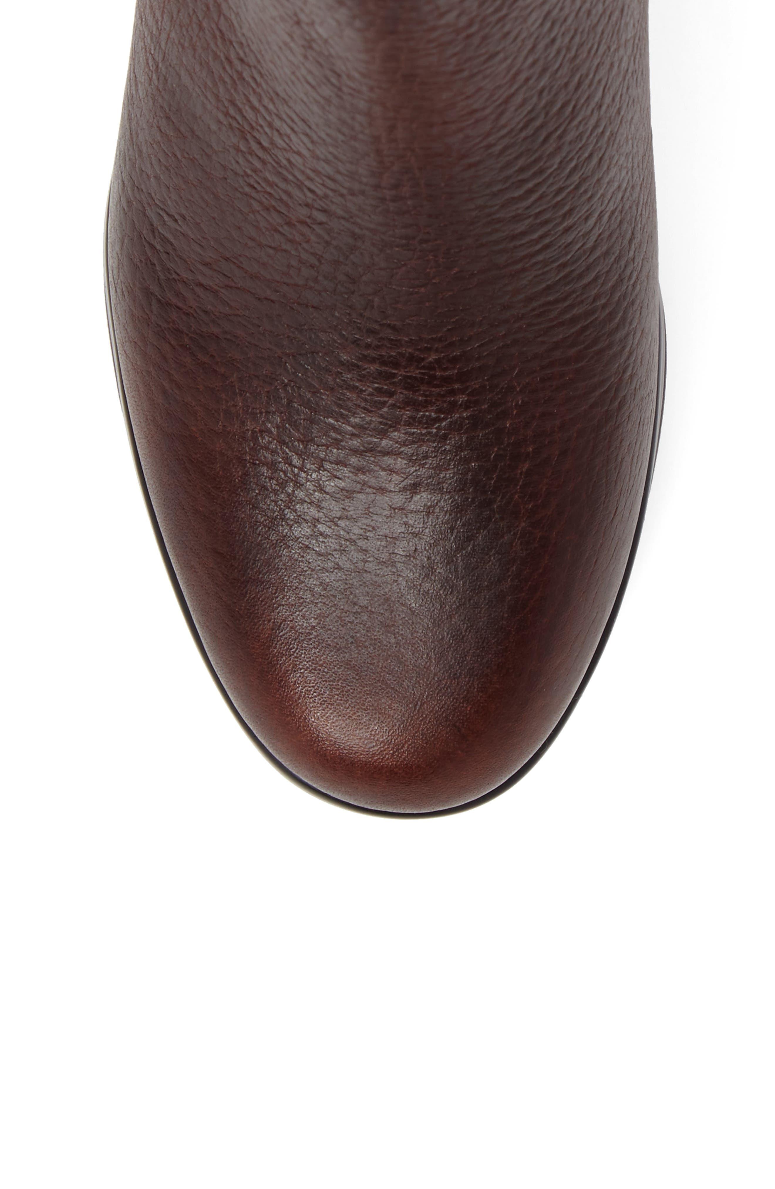 Alice Platform Boot,                             Alternate thumbnail 5, color,                             Medium Brown Leather