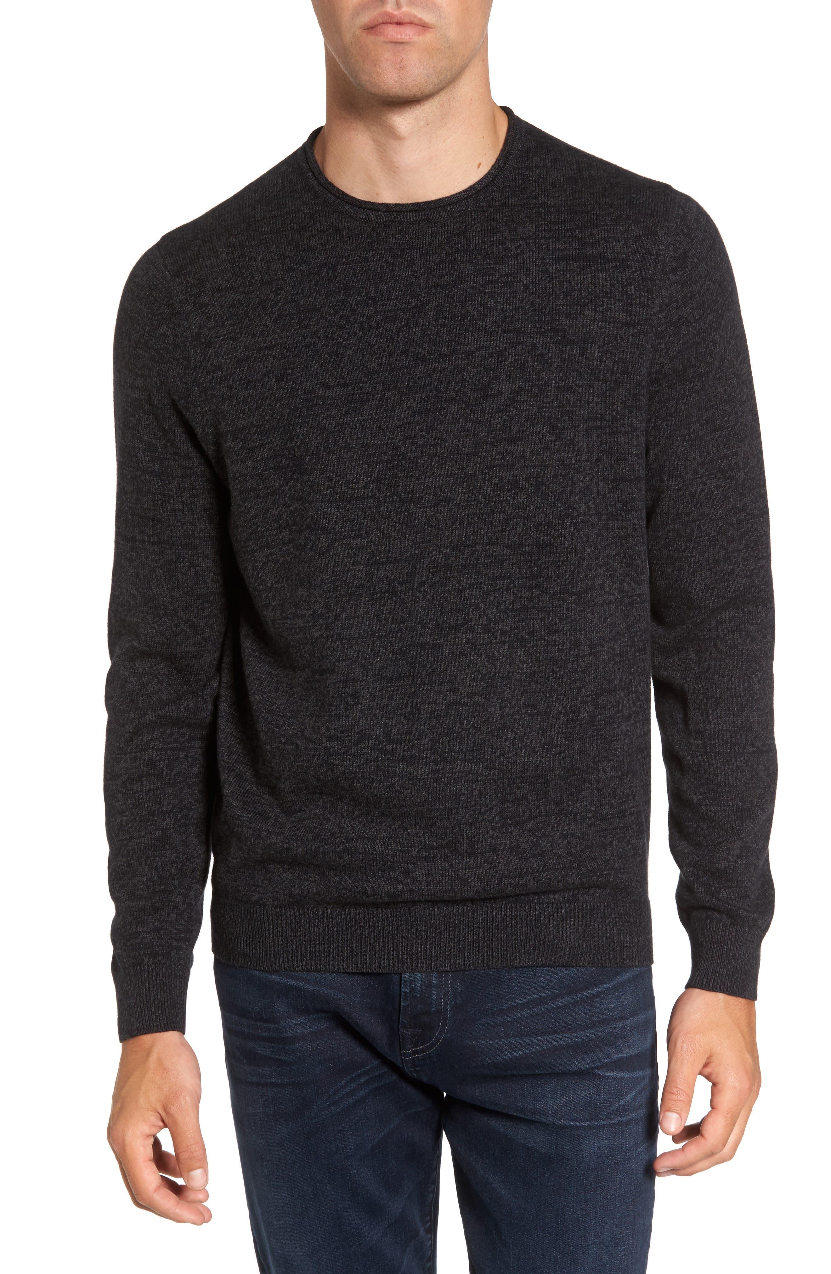 Nordstrom Men's Shop Cotton & Cashmere Roll Neck Sweater