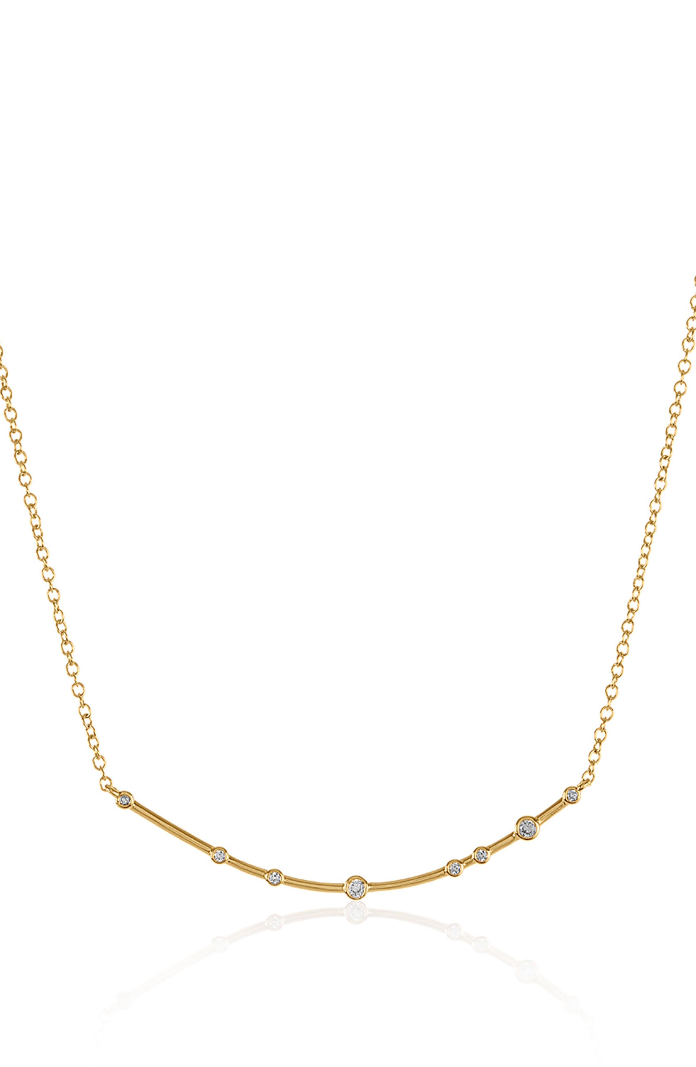 Crescent Necklace,                             Alternate thumbnail 2, color,                             Gold