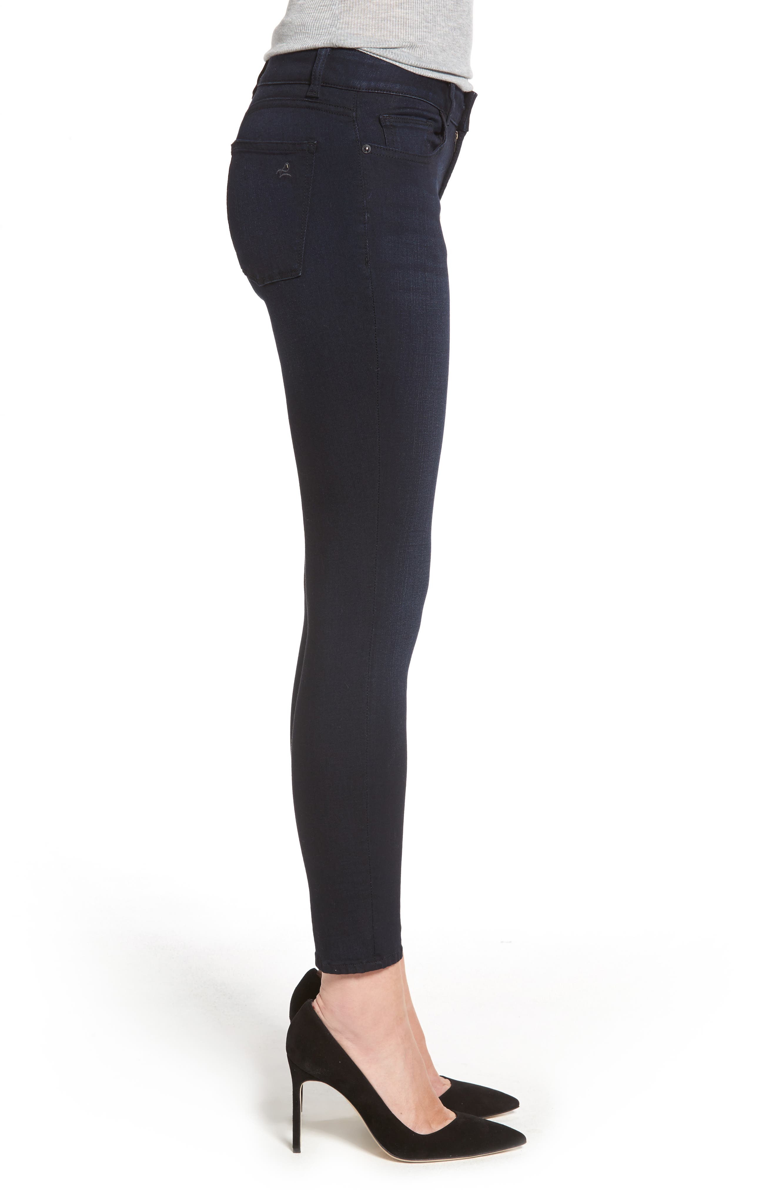 Margaux Ankle Skinny Jeans,                             Alternate thumbnail 3, color,                             Bentley