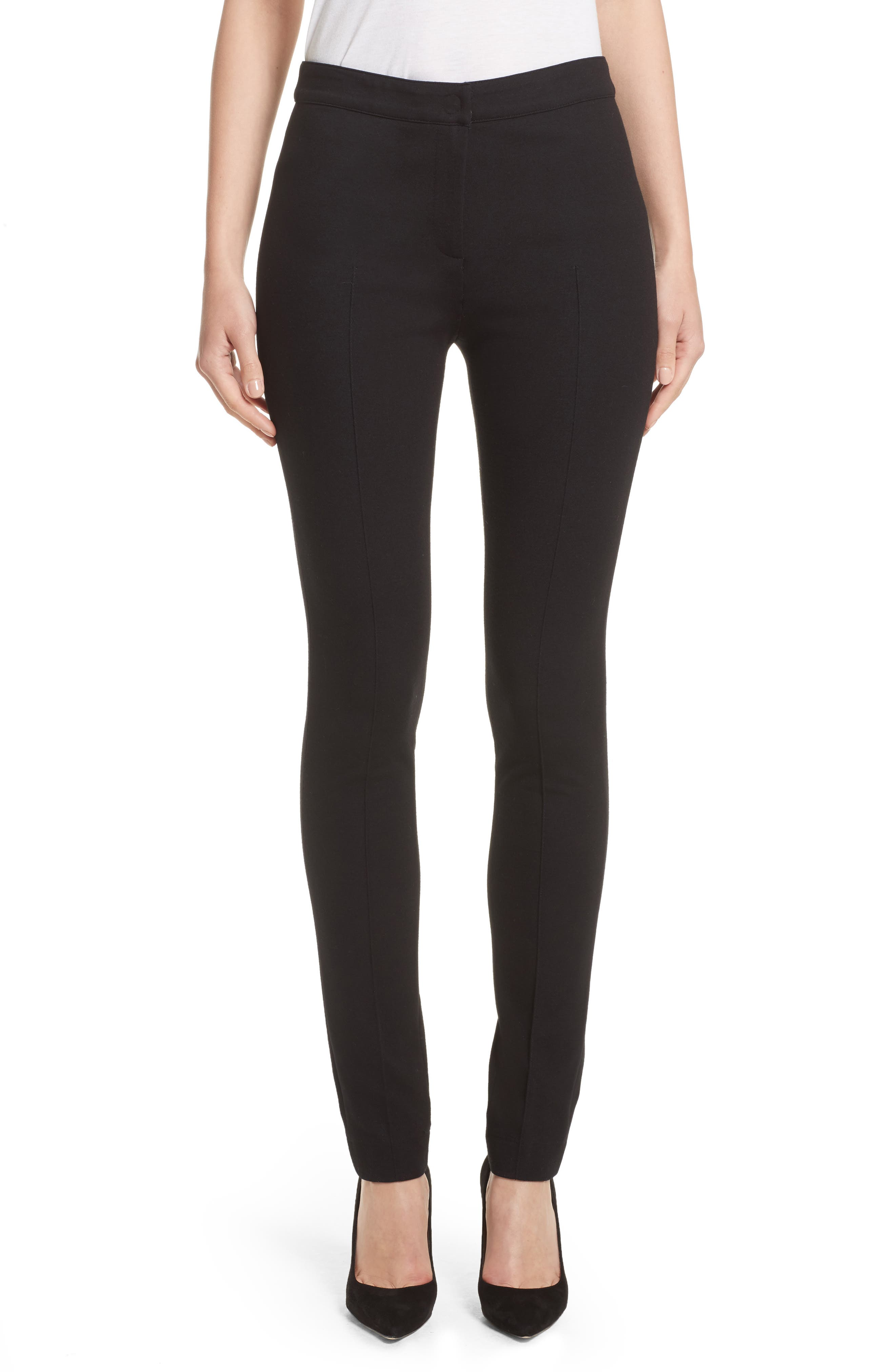 Stretch Jersey Pants,                         Main,                         color, Black