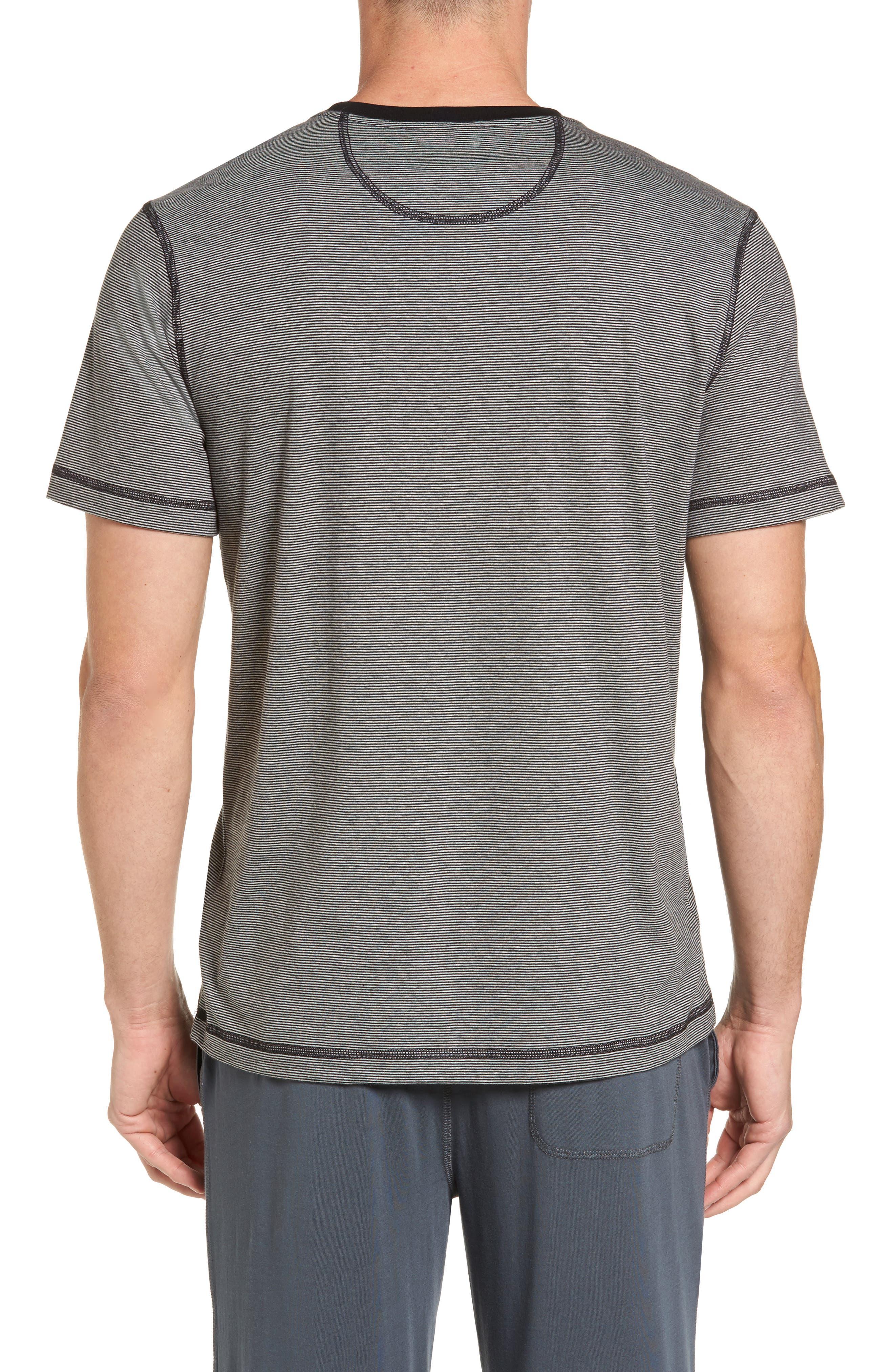 Peruvian Pima Cotton T-Shirt,                             Alternate thumbnail 2, color,                             Black/ Grey Heather
