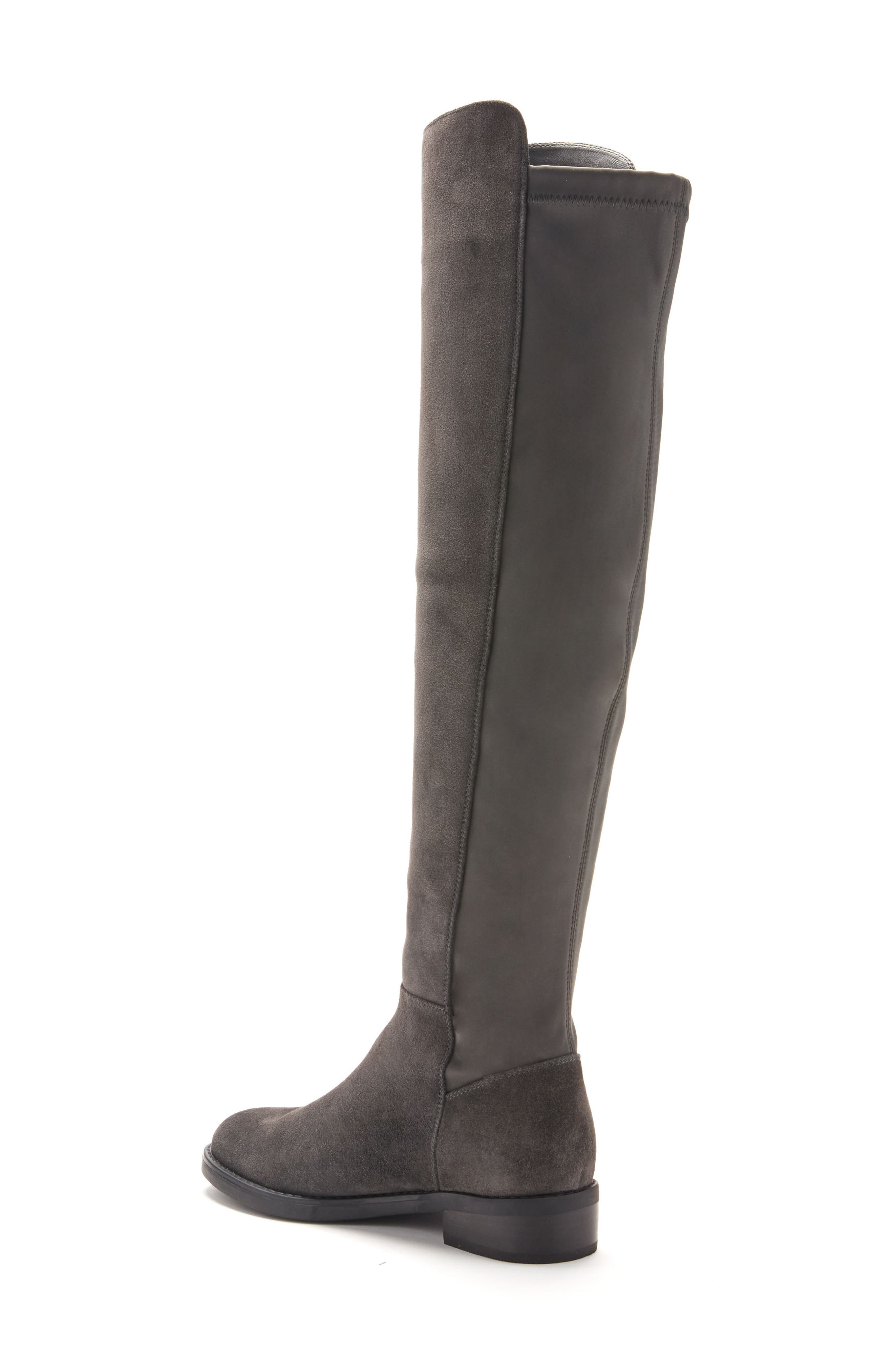 Olivia Knee High Boot,                             Alternate thumbnail 2, color,                             Grey Suede