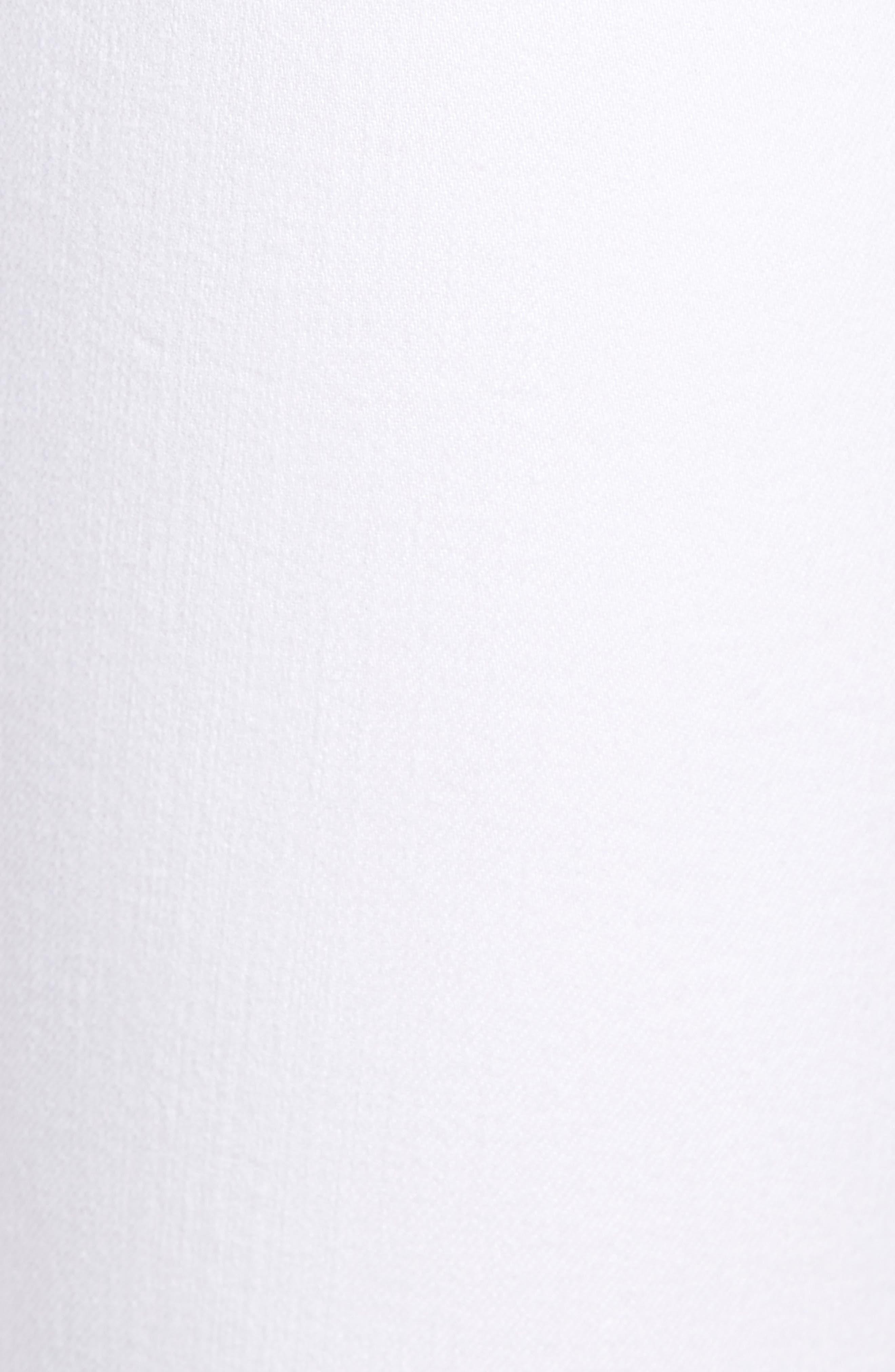 High Waist Step Hem Slim Boyfriend Jeans,                             Alternate thumbnail 6, color,                             Aged Bright White