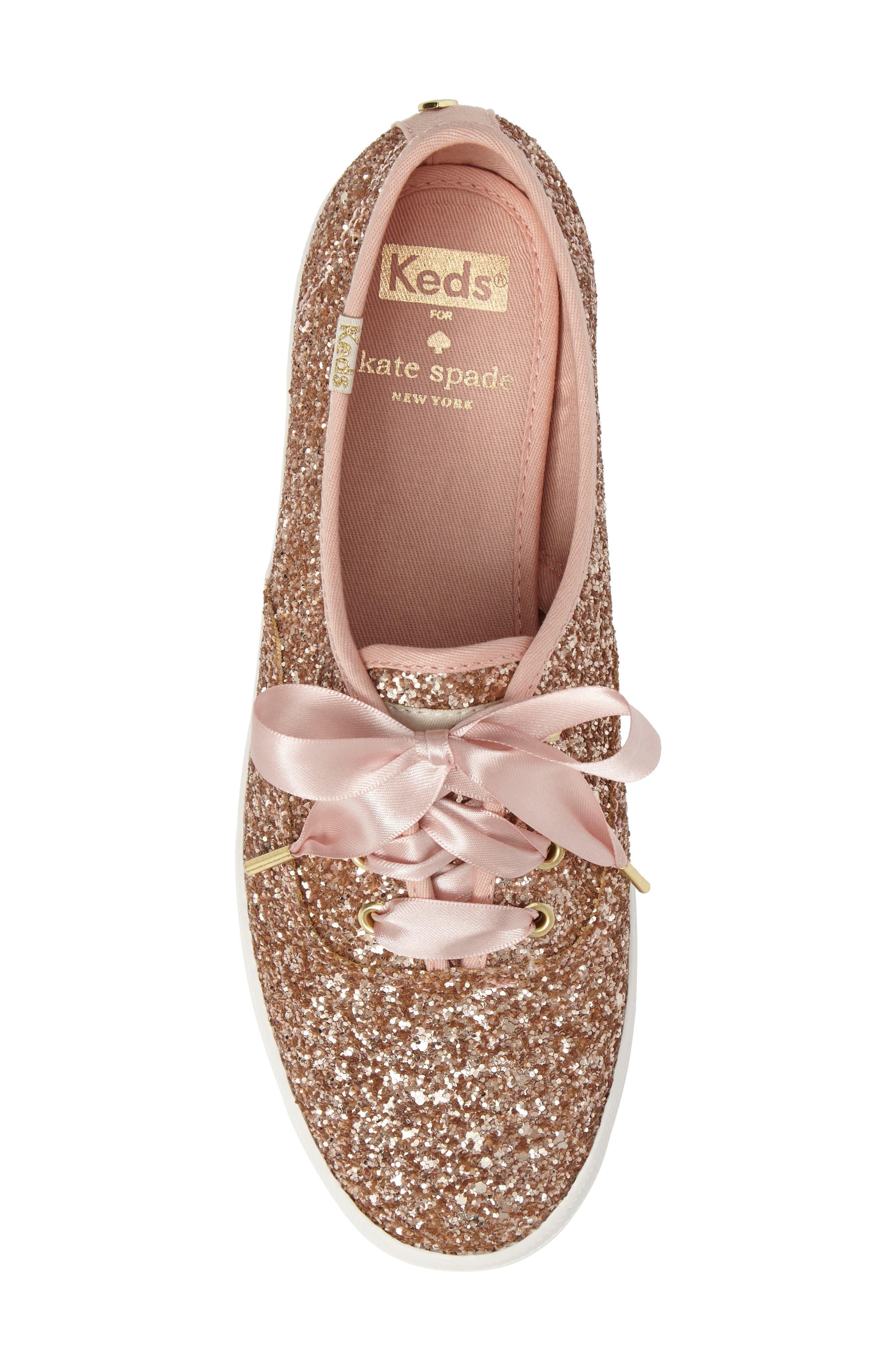 Alternate Image 5  - Keds® for kate spade new york glitter sneaker (Women)