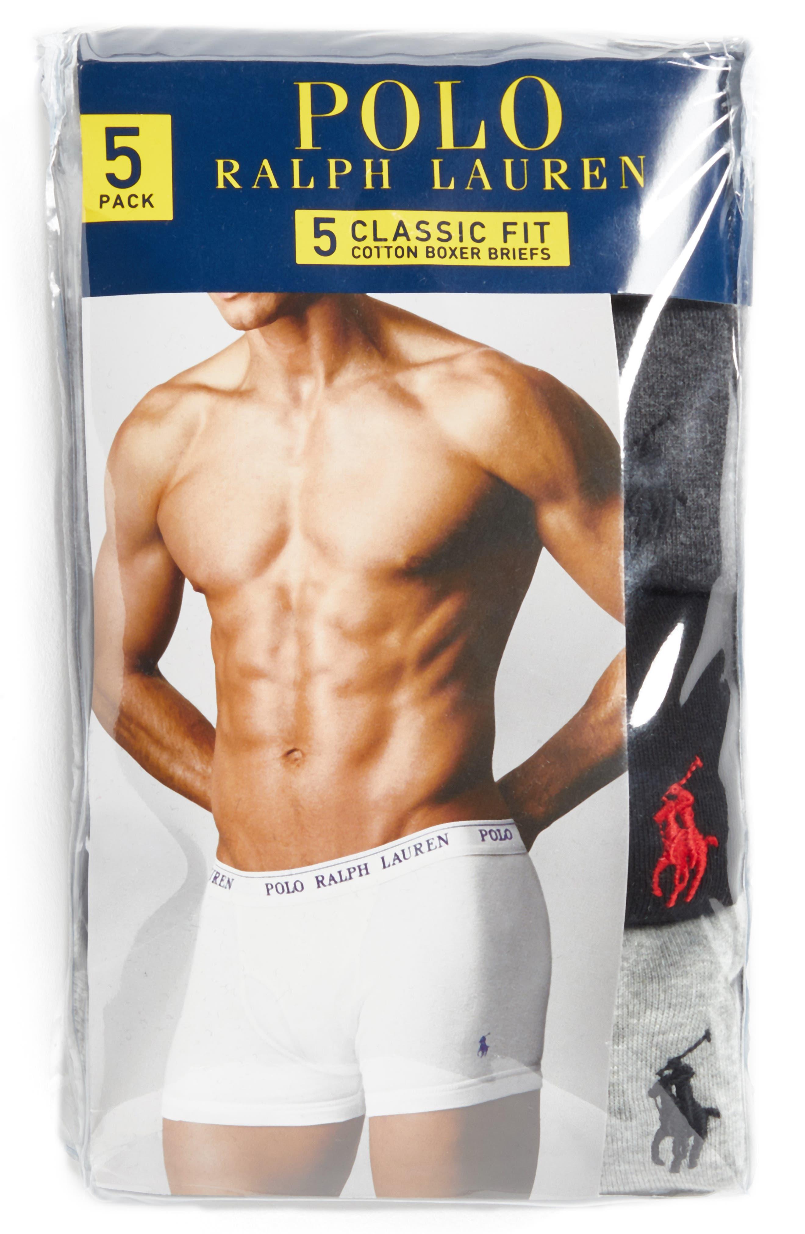 Alternate Image 6  - Polo Ralph Lauren 5-Pack Cotton Boxer Briefs