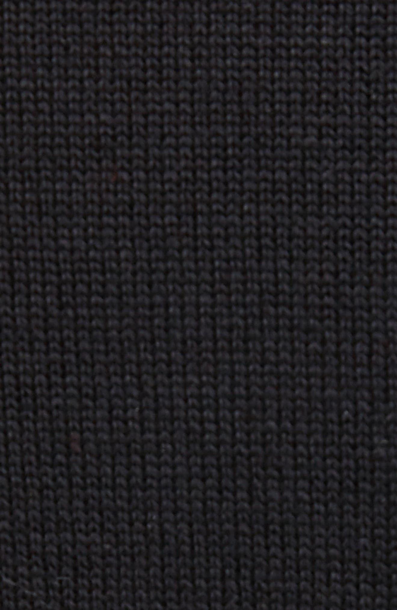 Piera Beaded Merino Wool Sweater,                             Alternate thumbnail 5, color,                             Black