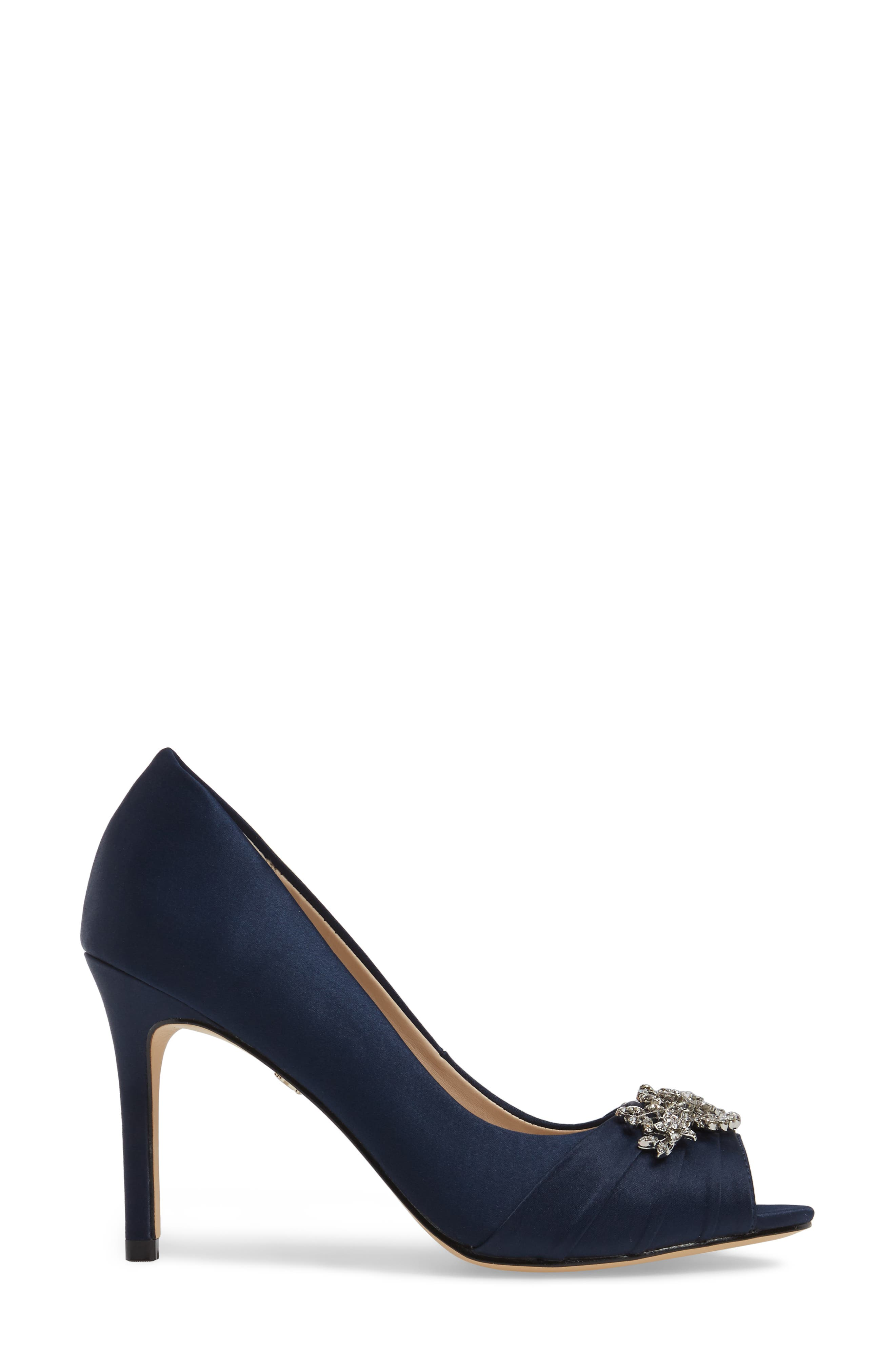 Alternate Image 2  - Nina Rumina Embellished Peep Toe Pump (Women)