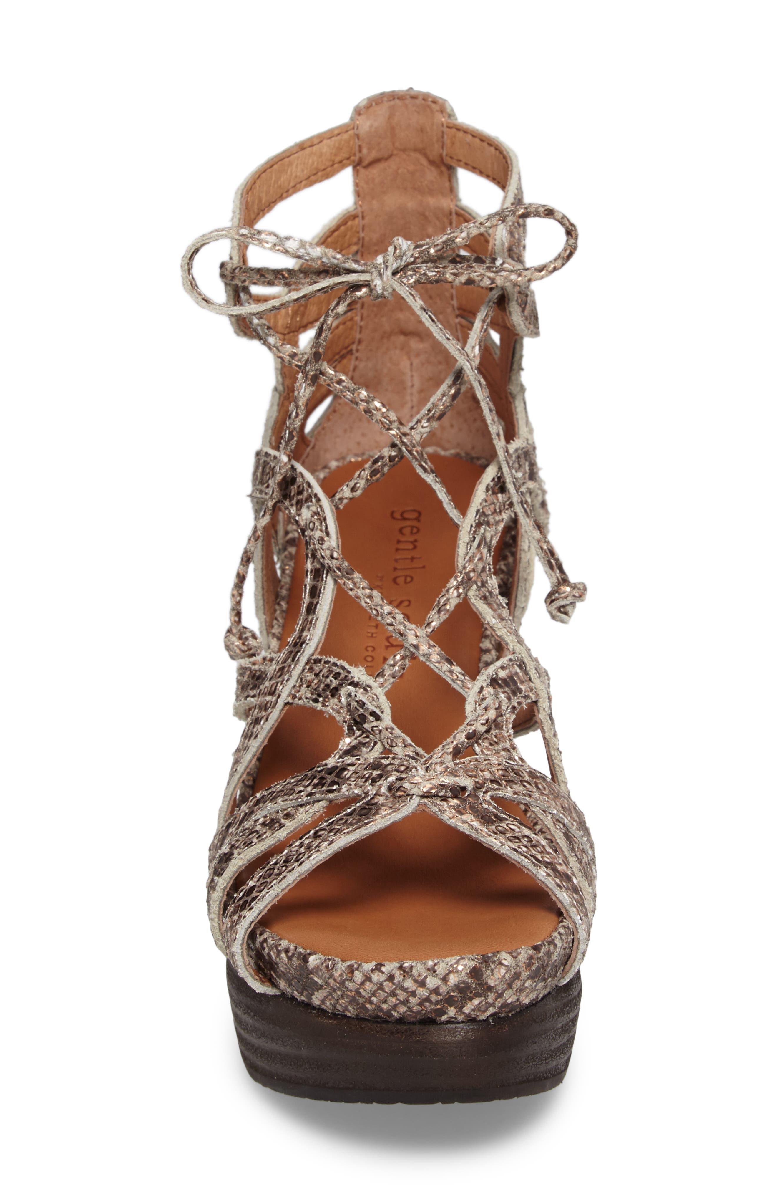 Alternate Image 4  - Gentle Souls 'Joy' Lace Up Nubuck Sandal (Women)